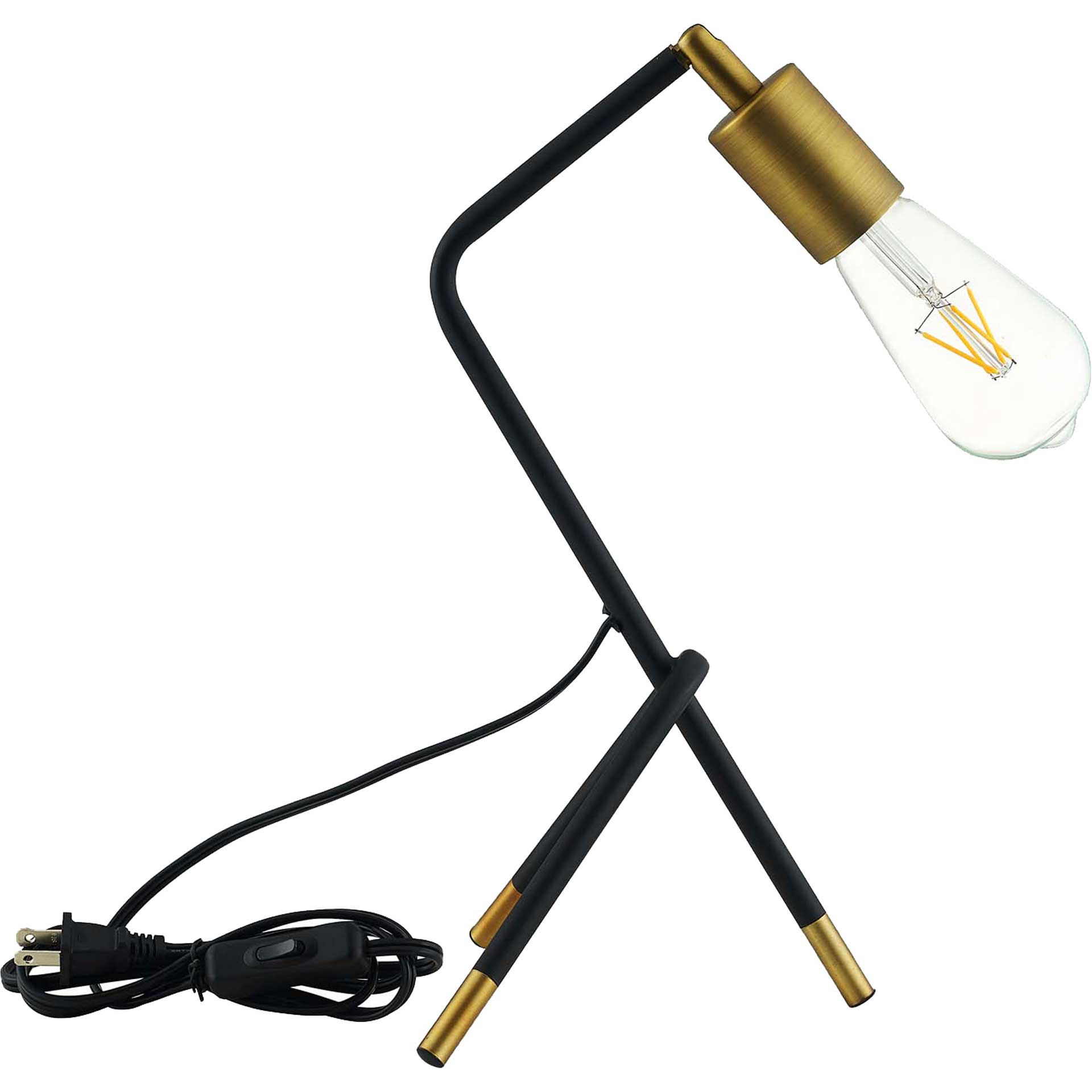 Abella Table Lamp Brass Gold/Black