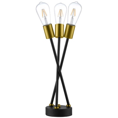 Bethany Brass Metal Table Lamp Black/Gold