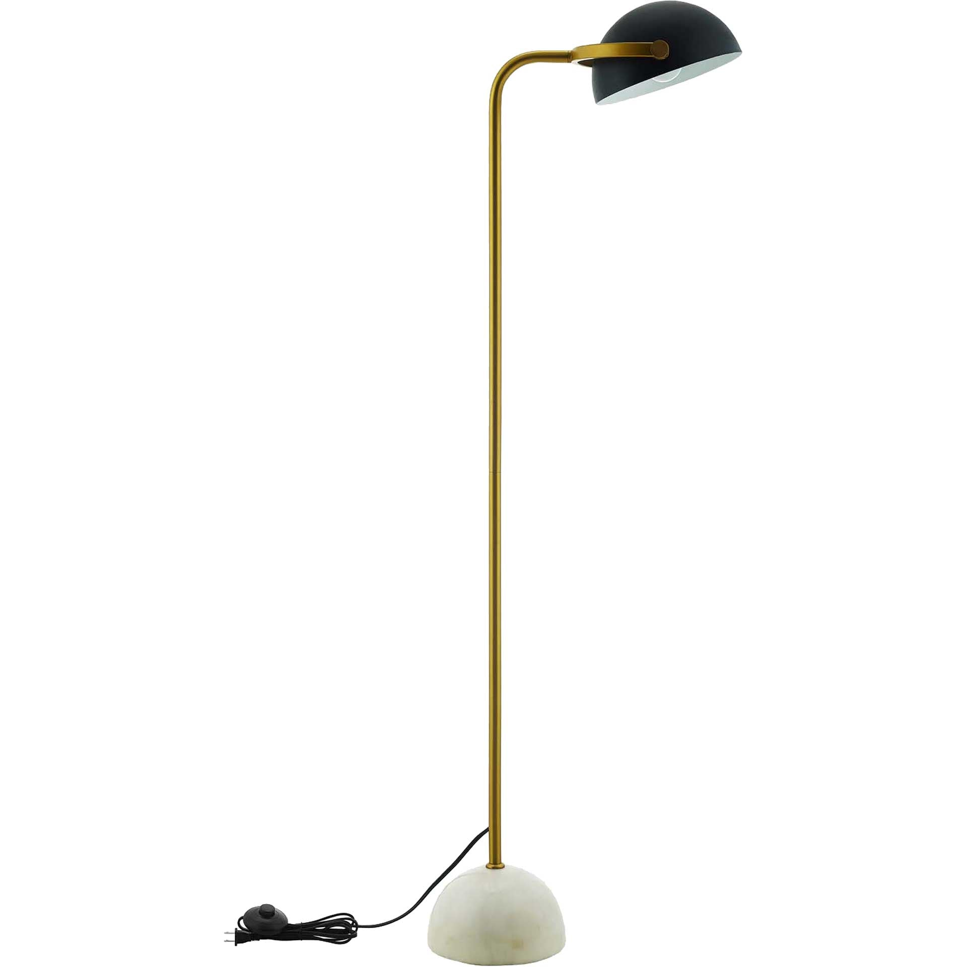 Carson Bronze and White Marble Floor Lamp Bronze/White