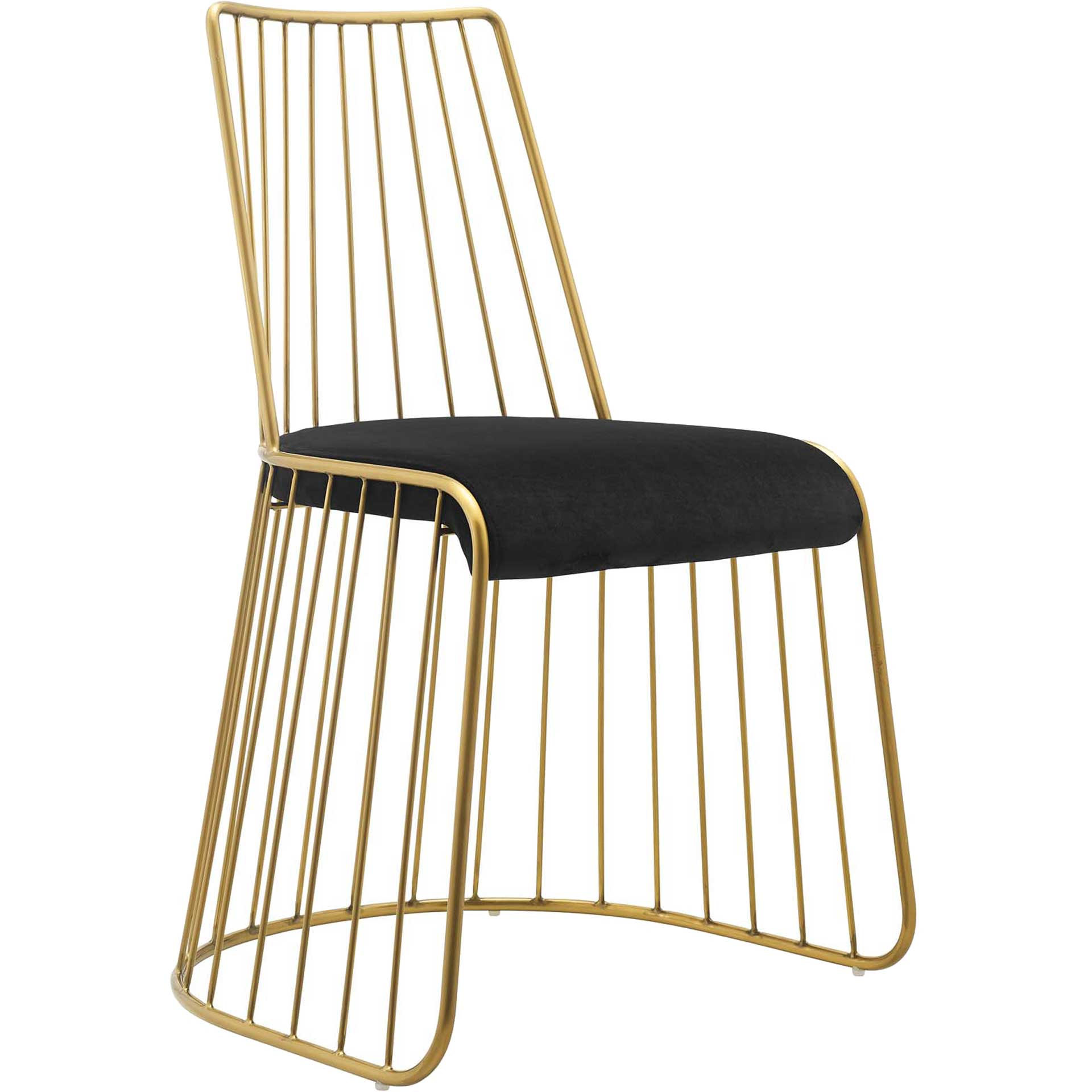 Ruth Velvet Dining Chair Gold/Black