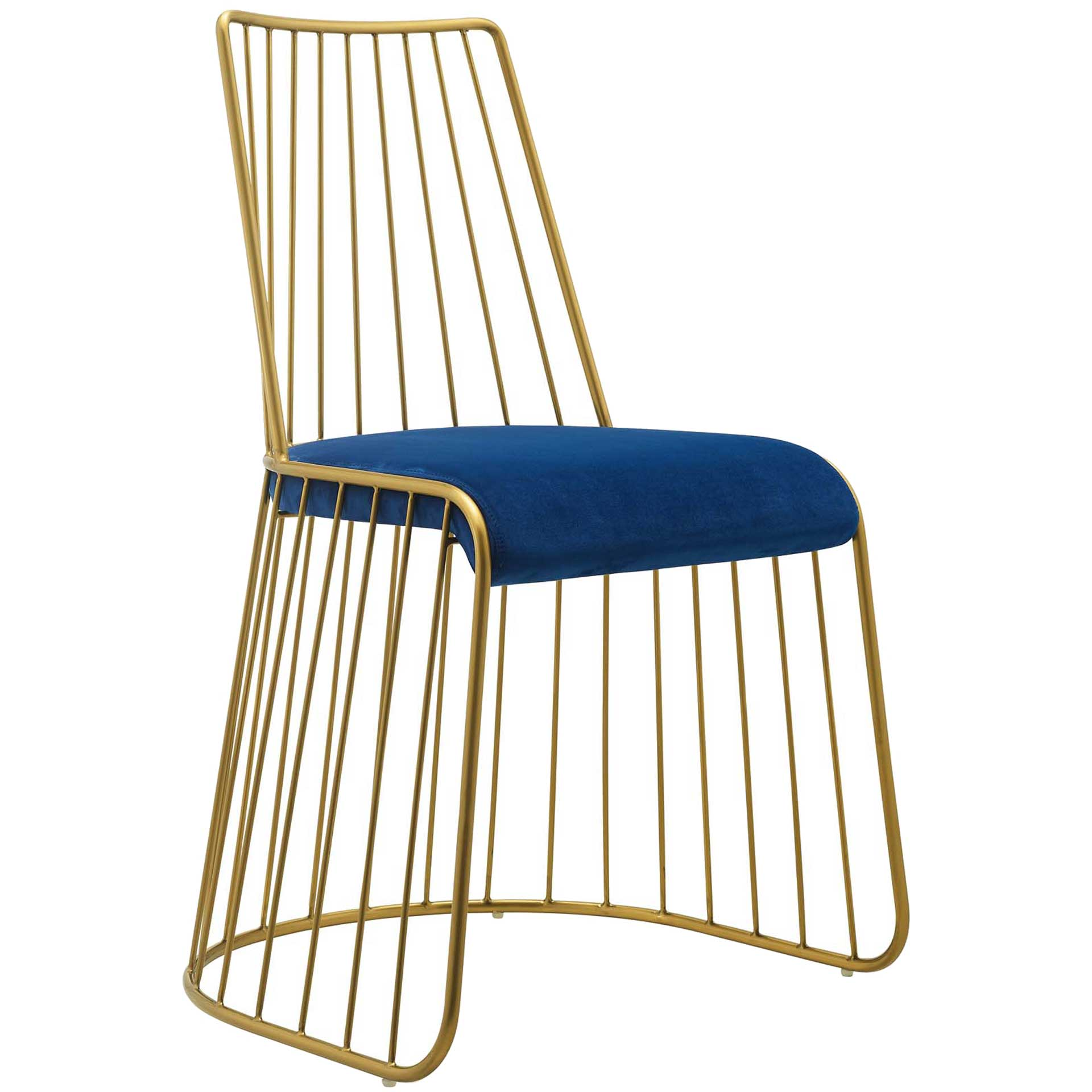 Ruth Velvet Dining Chair Gold/Navy