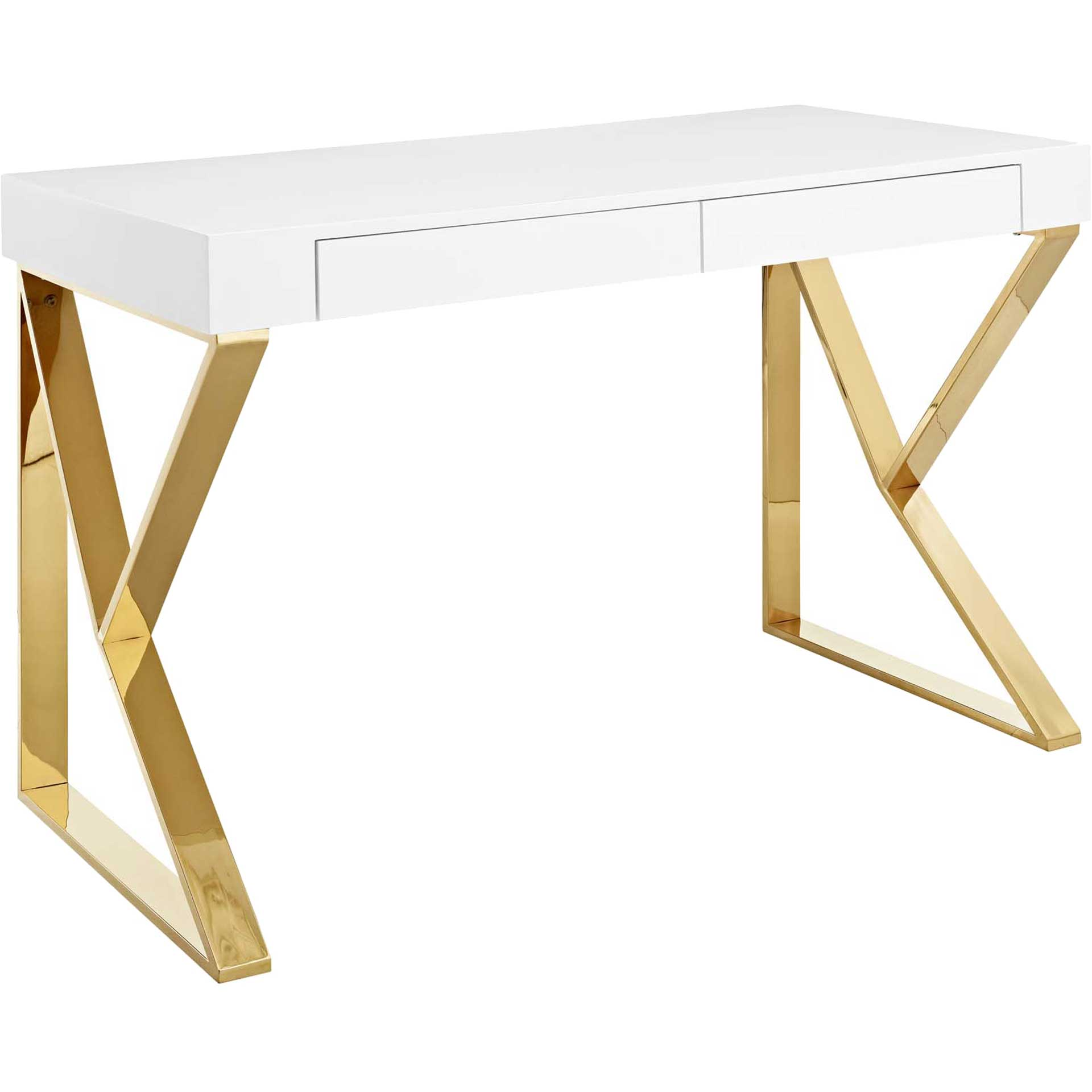 Adelaide Desk White/Gold
