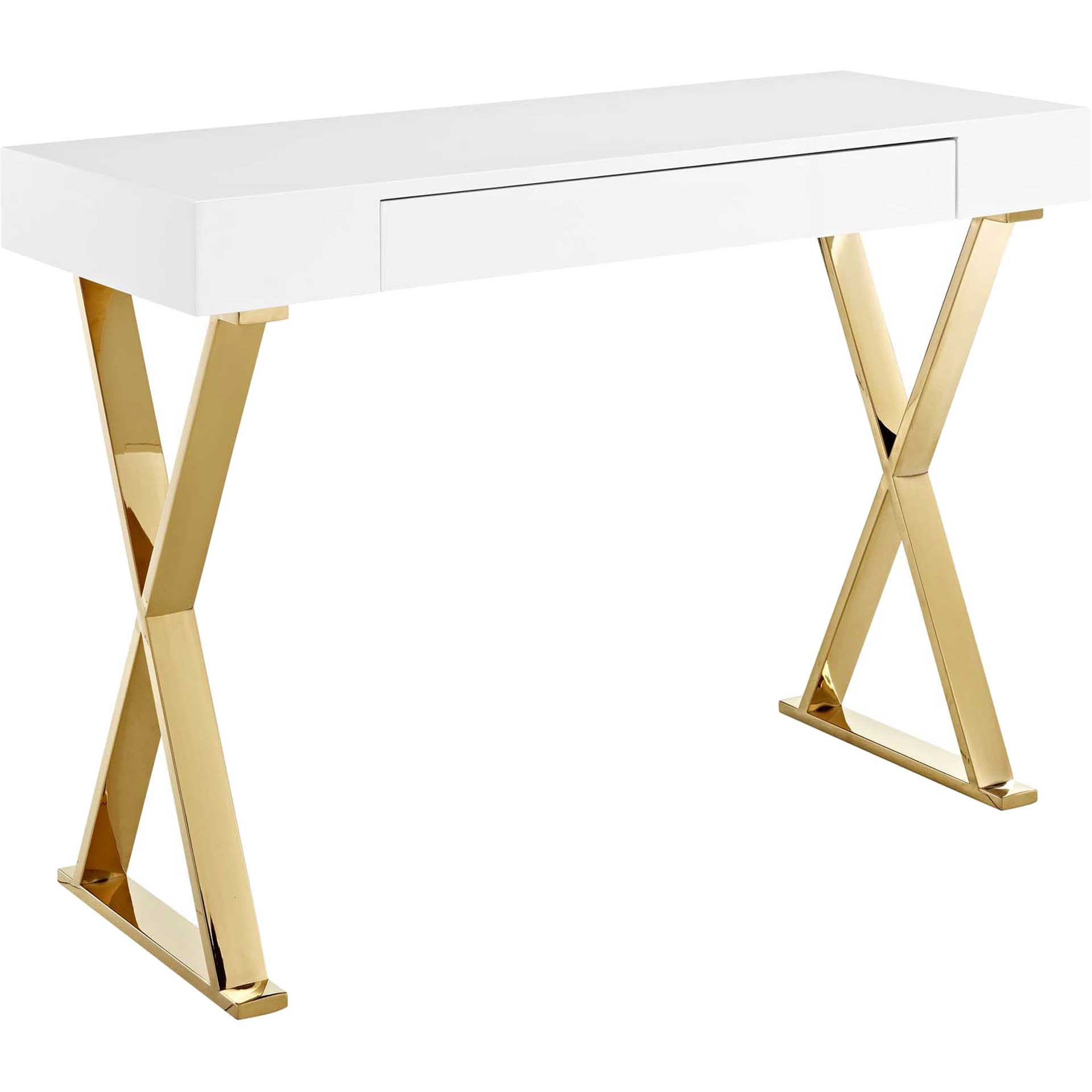 Section Console Table White/Gold