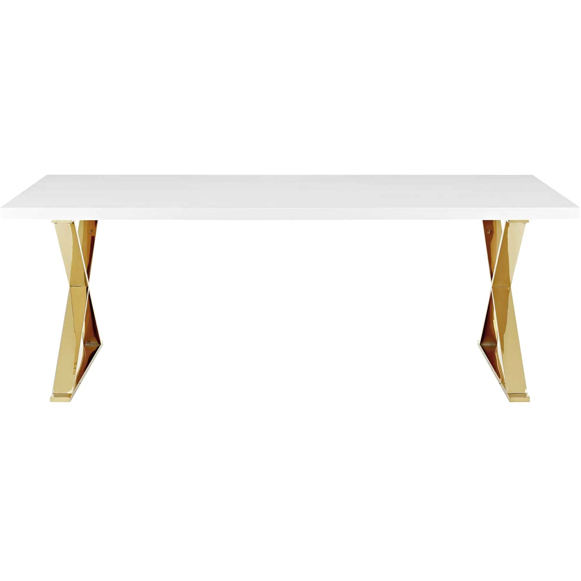 Section Dining Table White/Gold