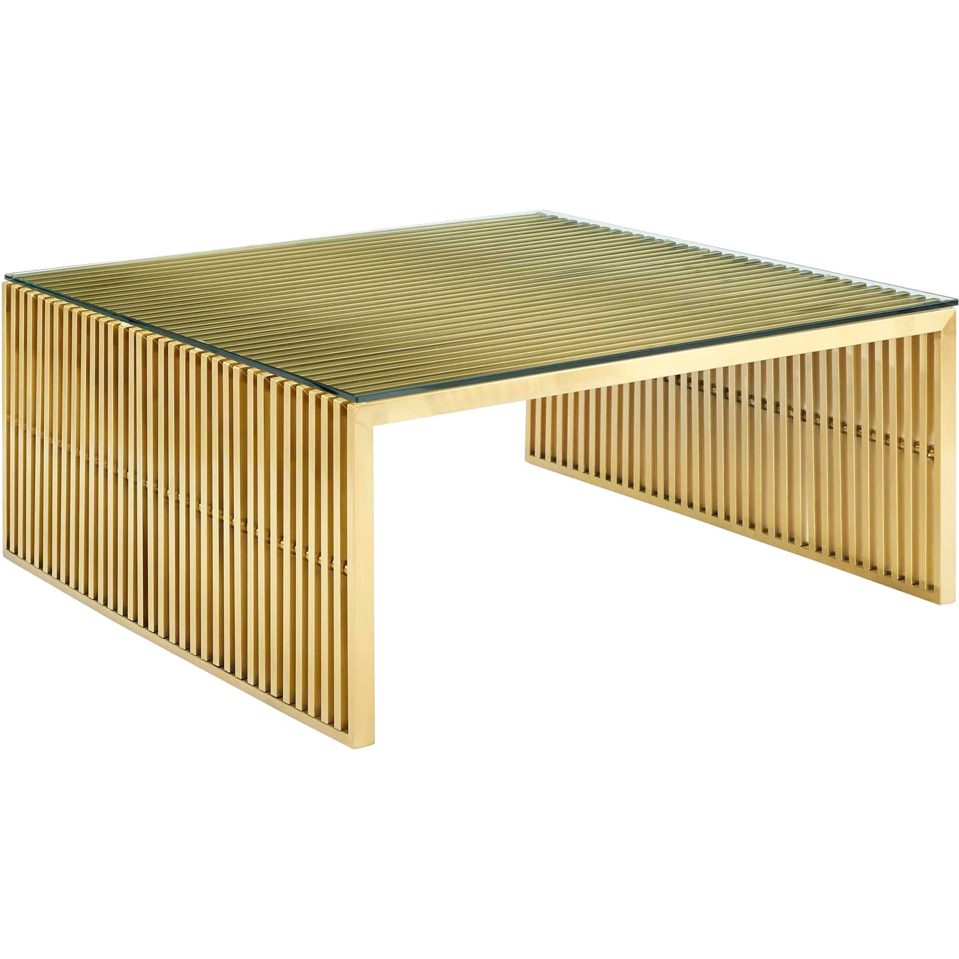 Galena Stainless Steel Coffee Table Gold