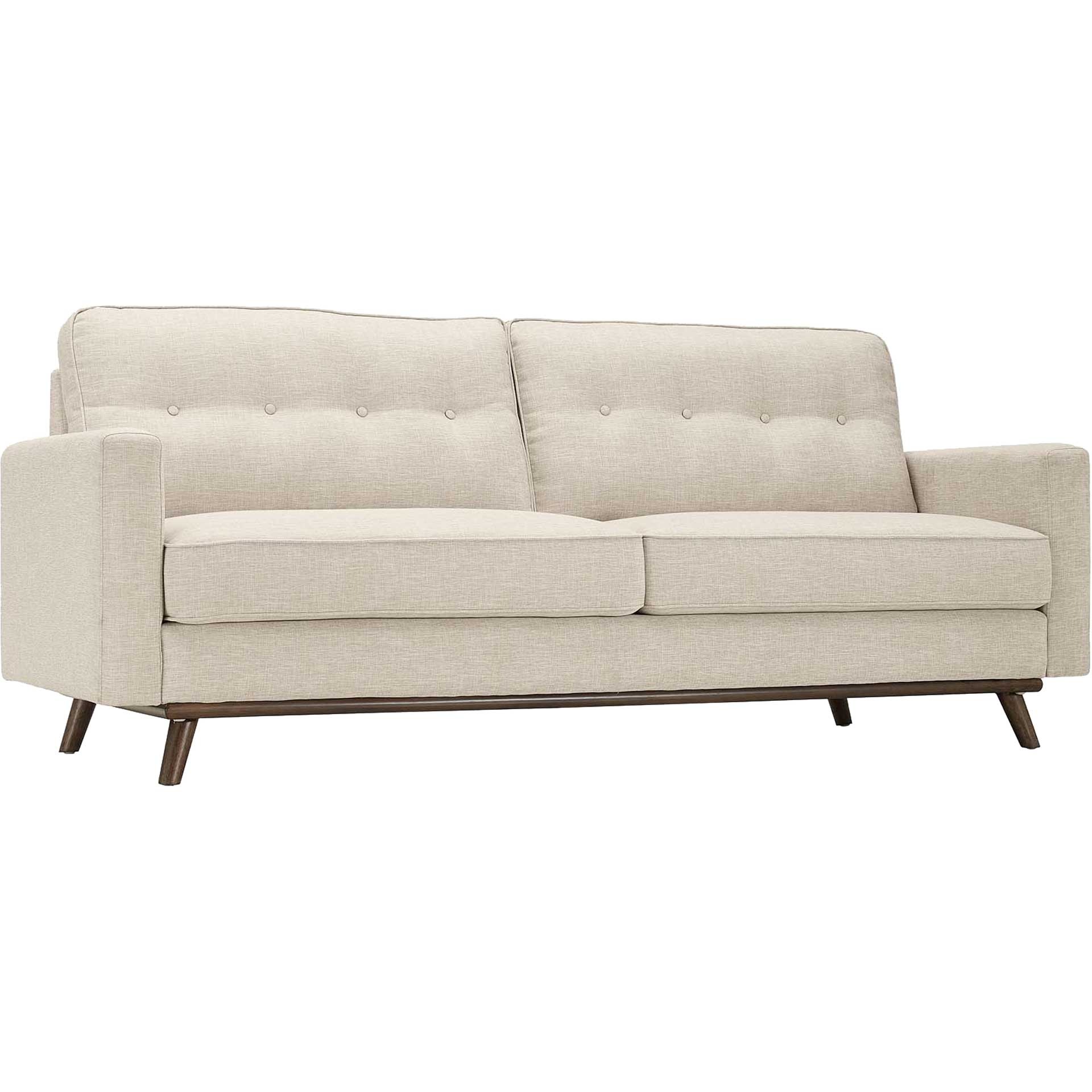 Pearl Upholstered Fabric Sofa Beige