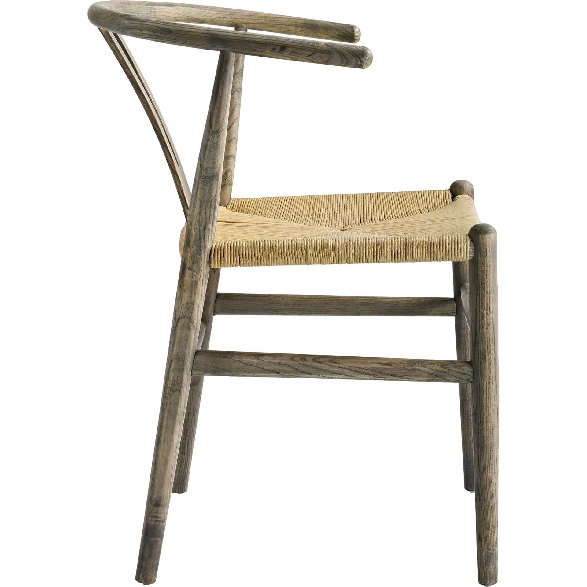 Amelot Wood Armchair Weathered Gray