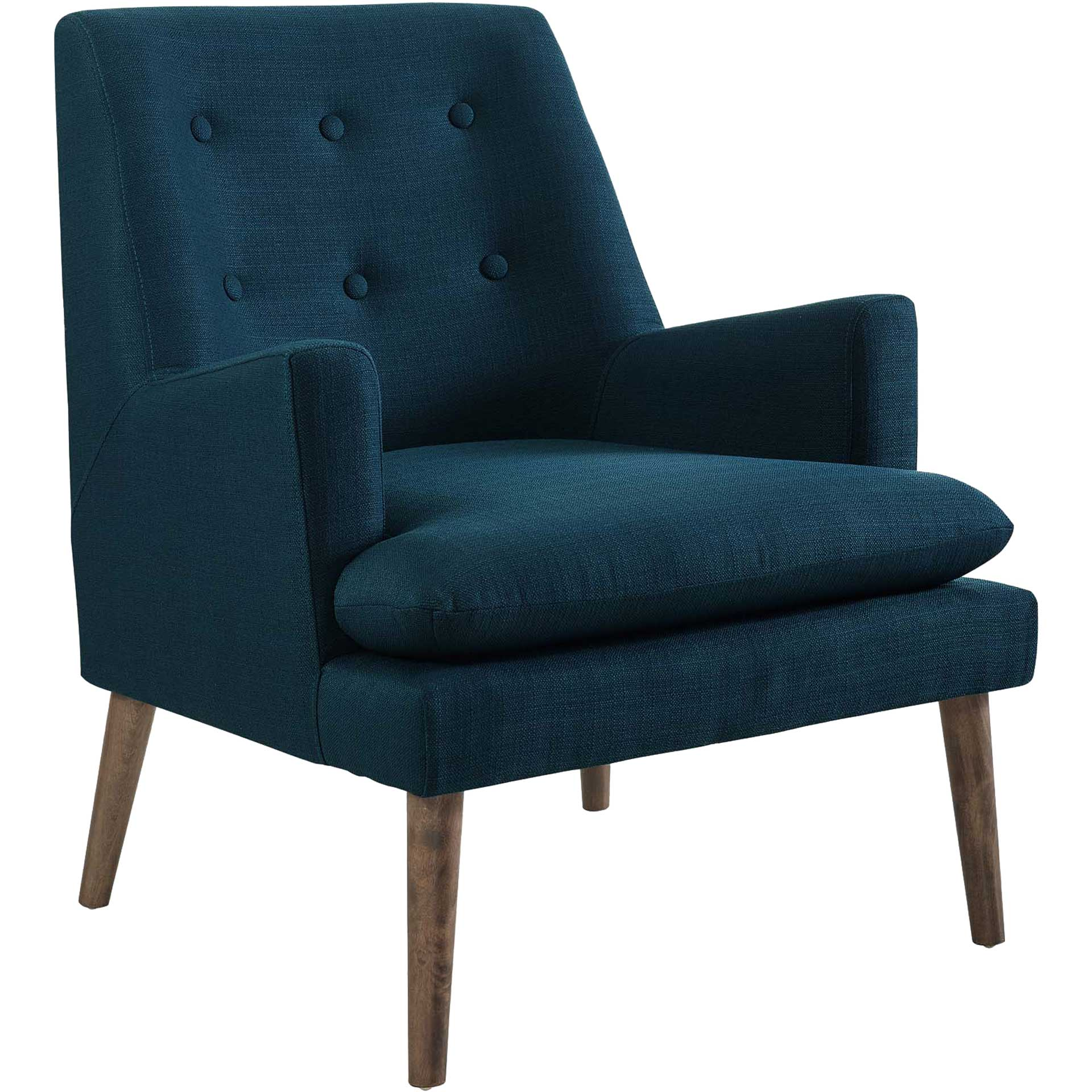 Lucas Upholstered Lounge Chair Azure