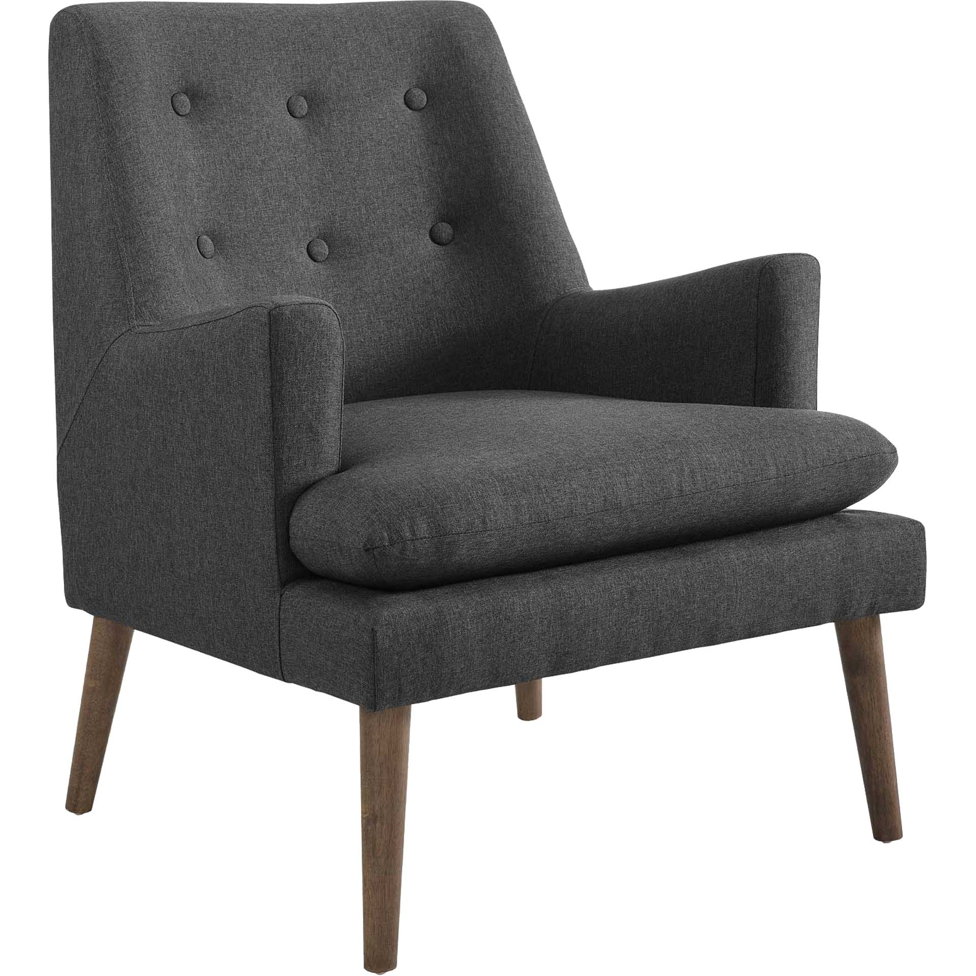 Lucas Upholstered Lounge Chair Gray