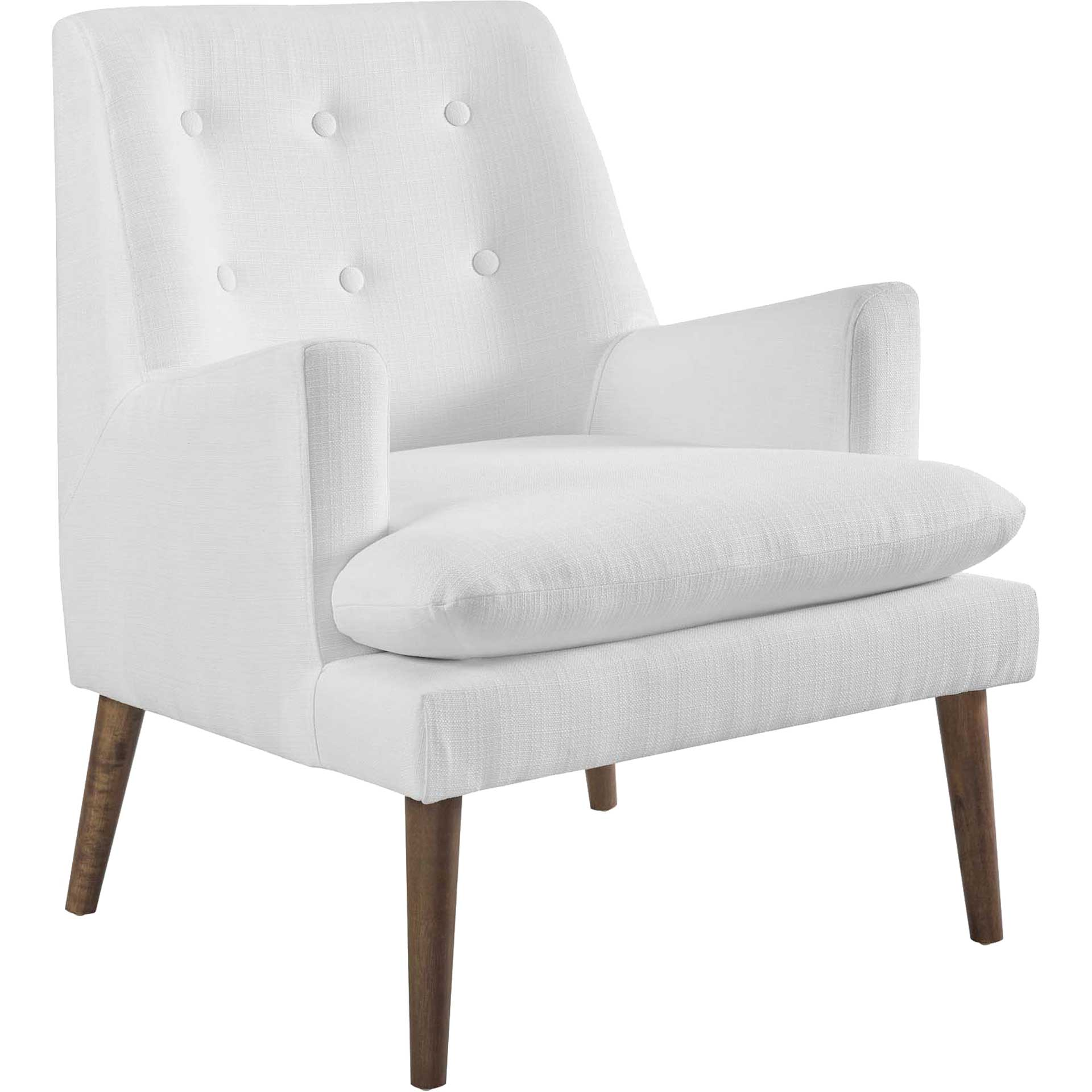 Lucas Upholstered Lounge Chair White