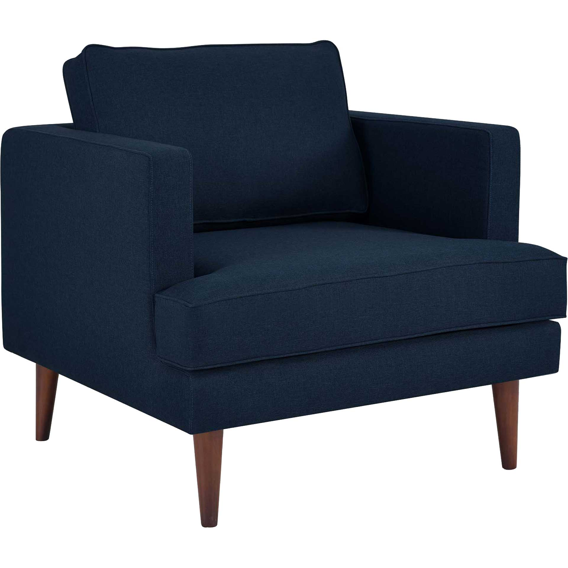 Aisley Upholstered Fabric Armchair Blue