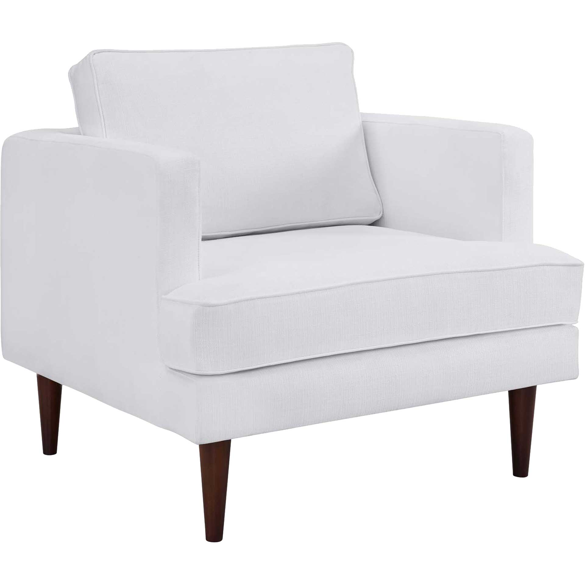 Aisley Upholstered Fabric Armchair White