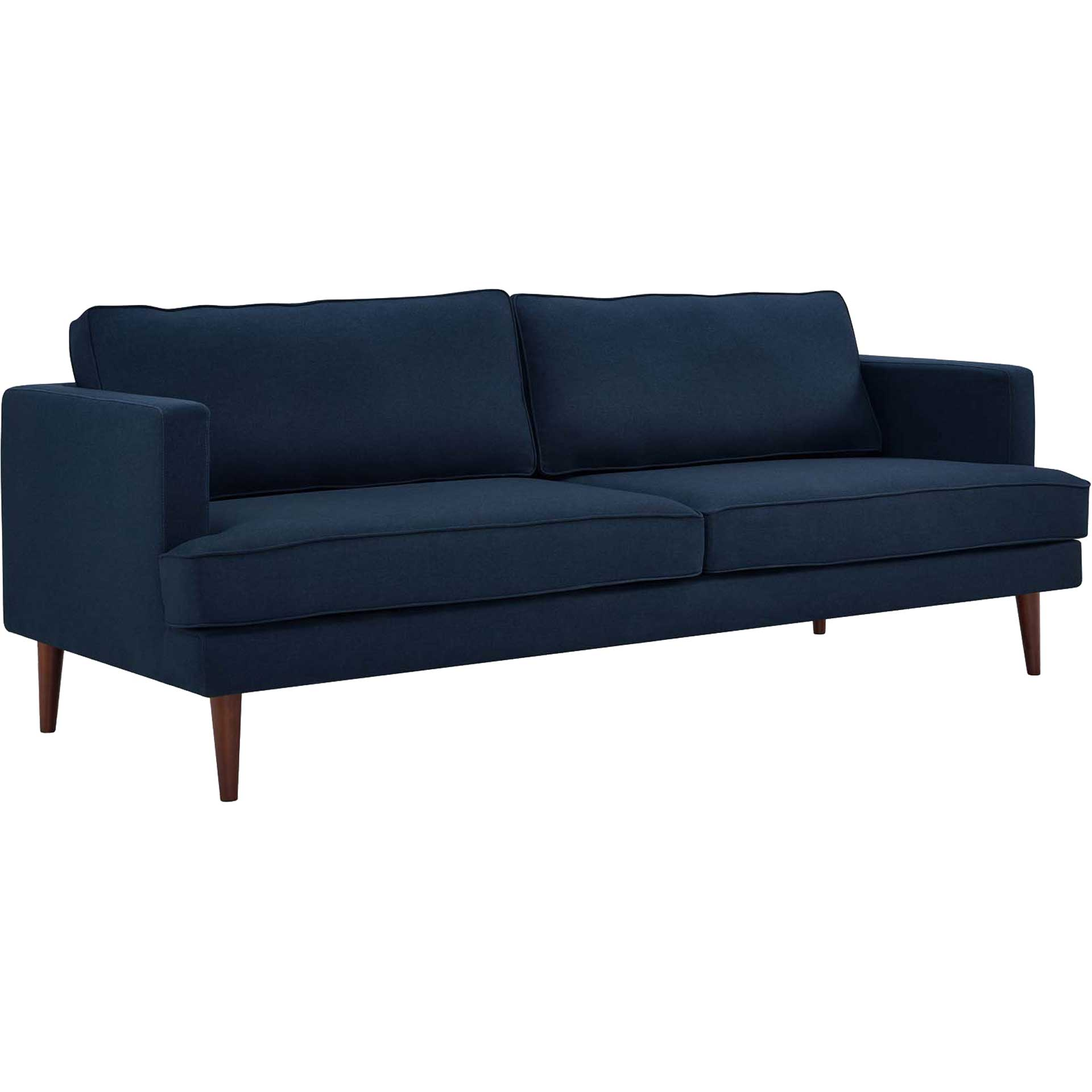 Aisley Upholstered Fabric Sofa Blue