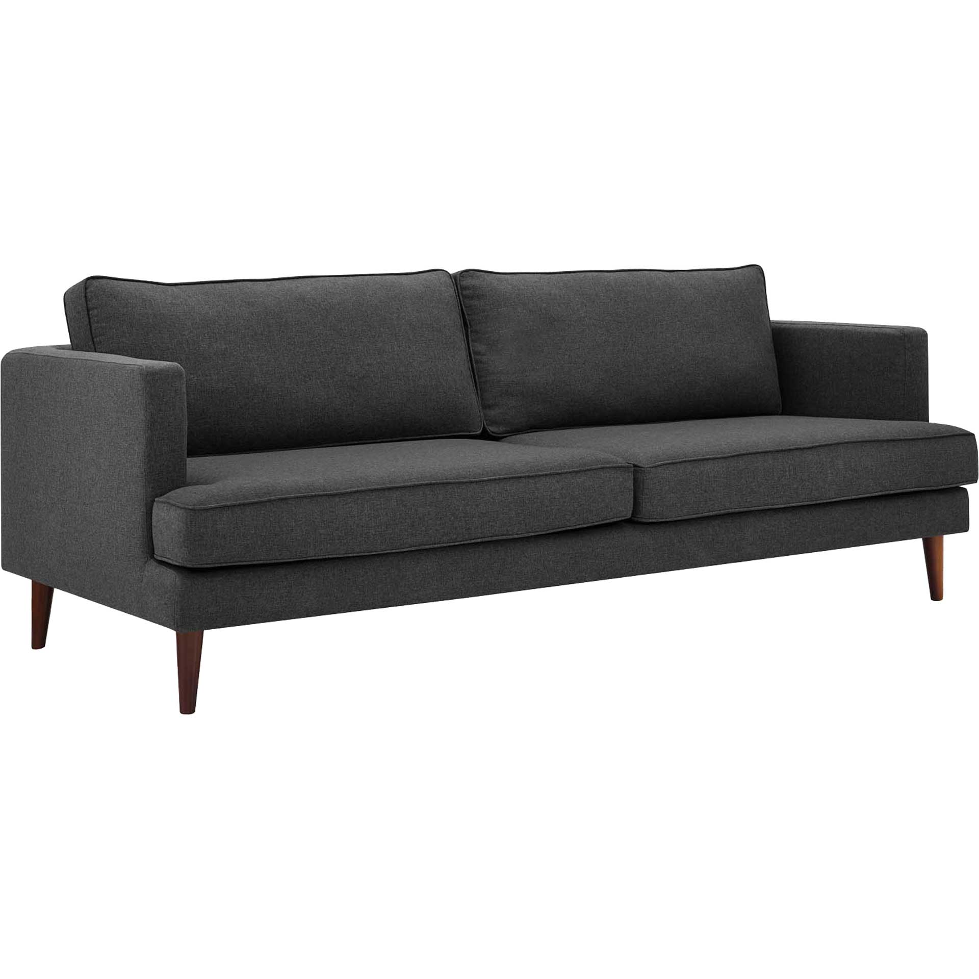 Aisley Upholstered Fabric Sofa Gray