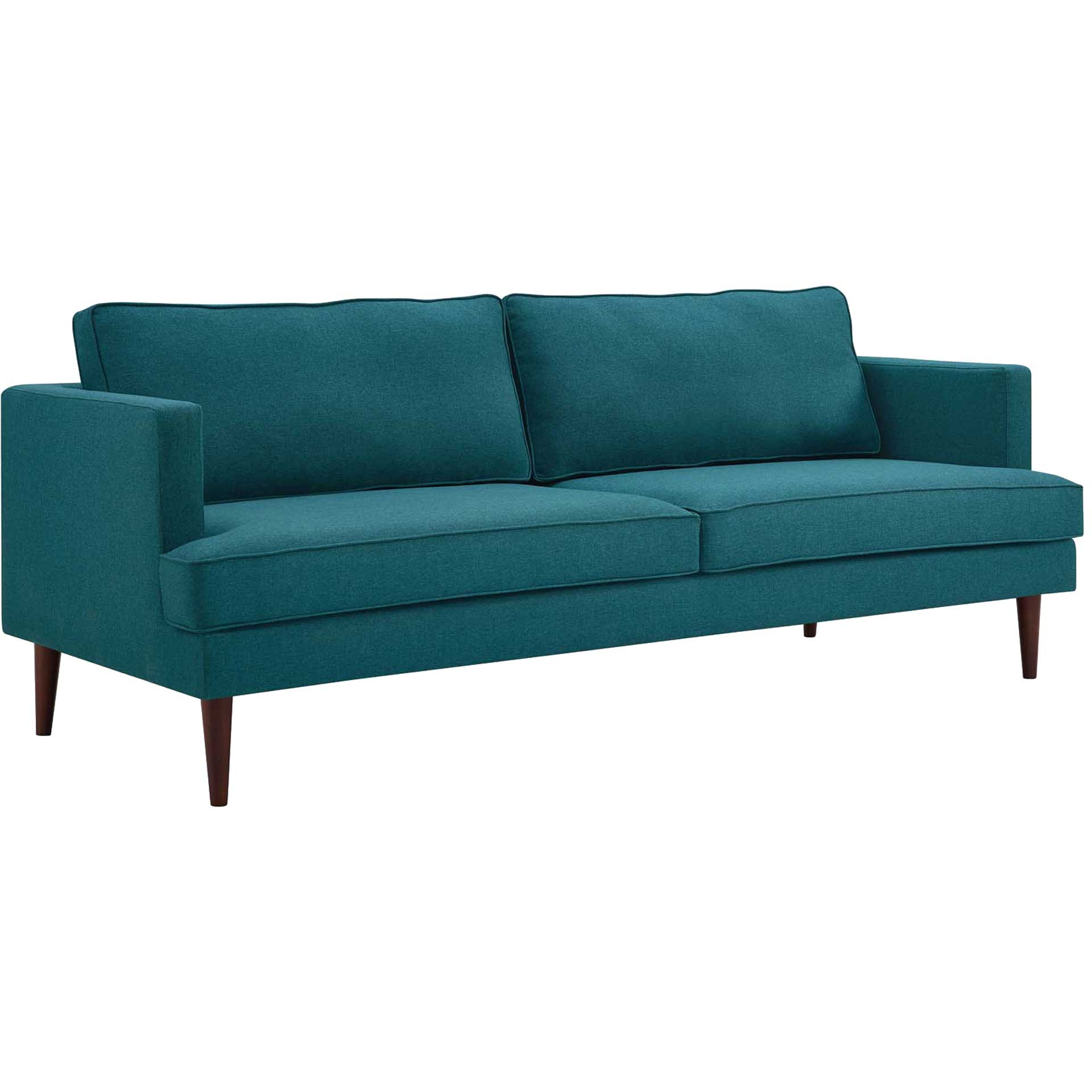 Aisley Upholstered Fabric Sofa Teal
