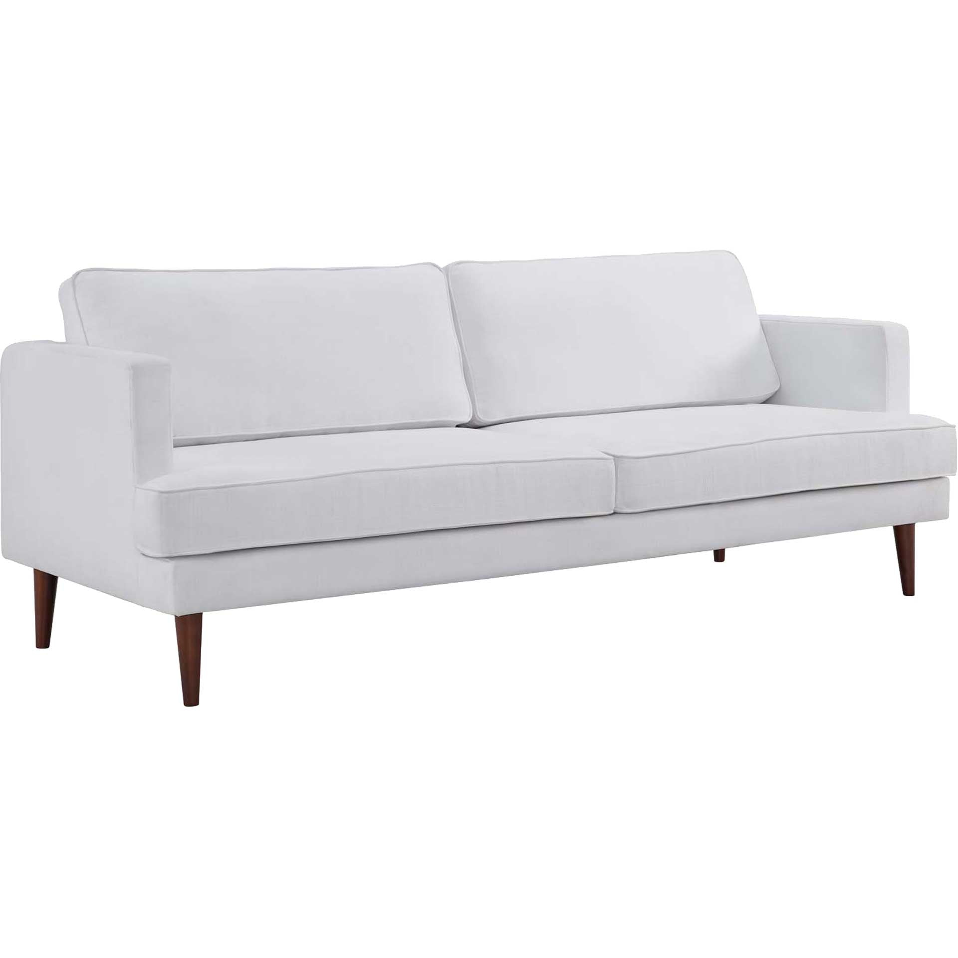Aisley Upholstered Fabric Sofa White
