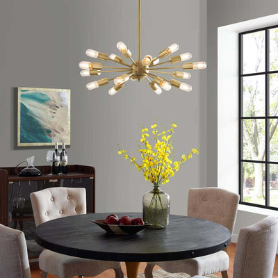 Rubicon Pendant Chandelier Gold
