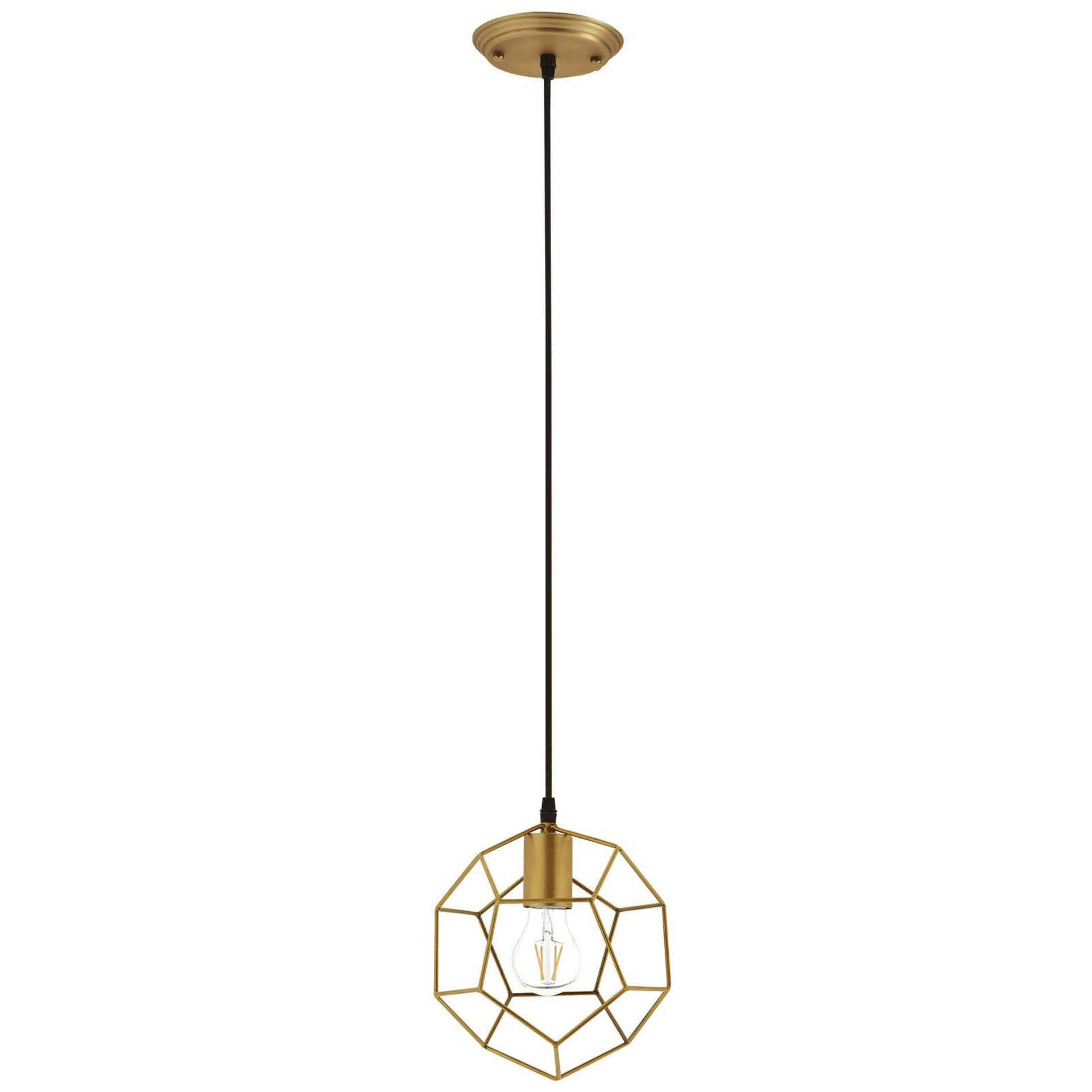 Pierce Metal Ceiling Fixture Gold