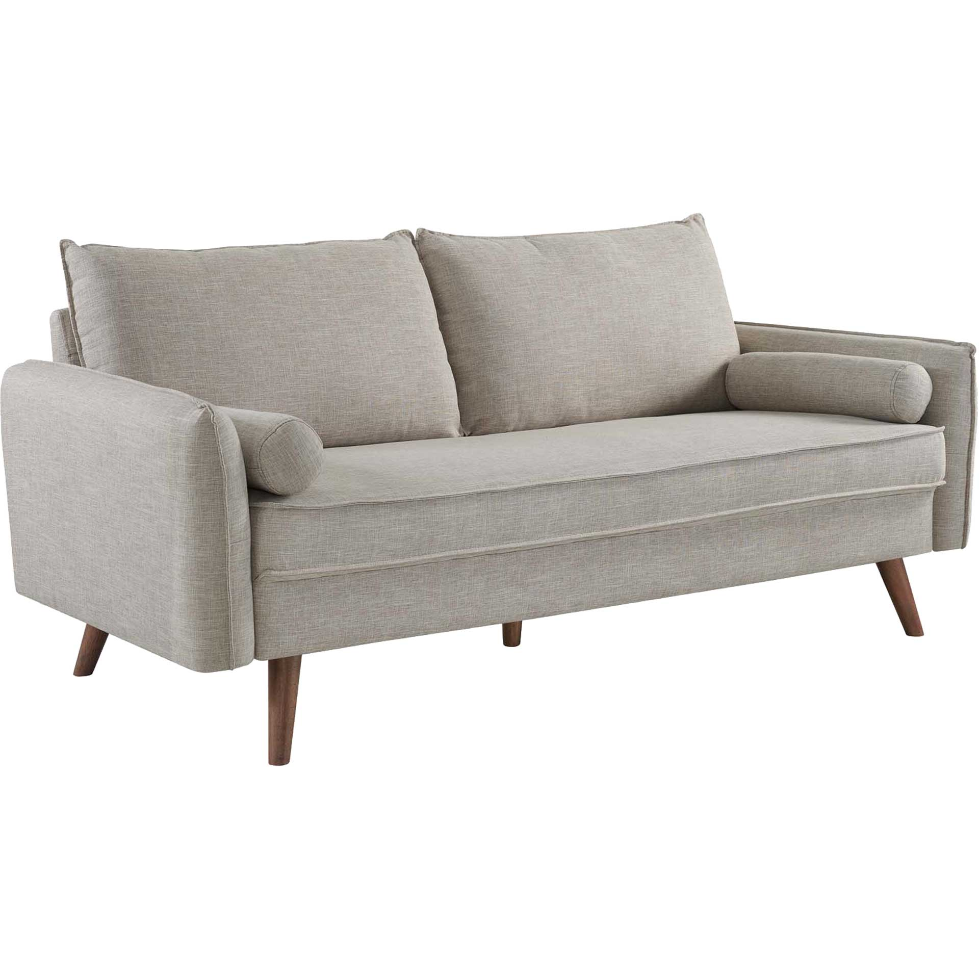Raylee Upholstered Fabric Sofa Beige
