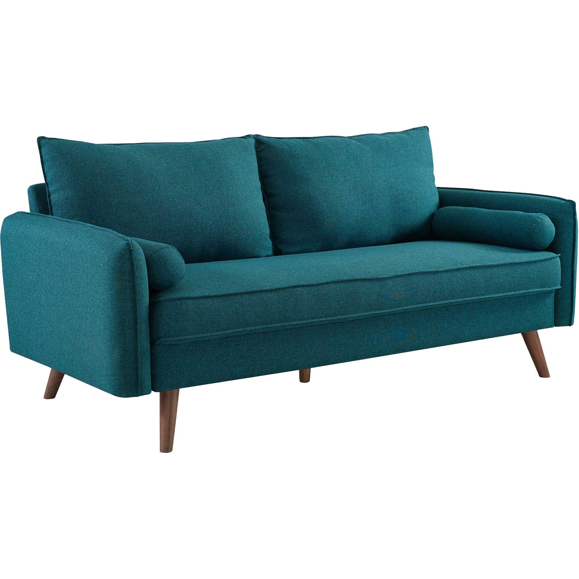 Raylee Upholstered Fabric Sofa Teal