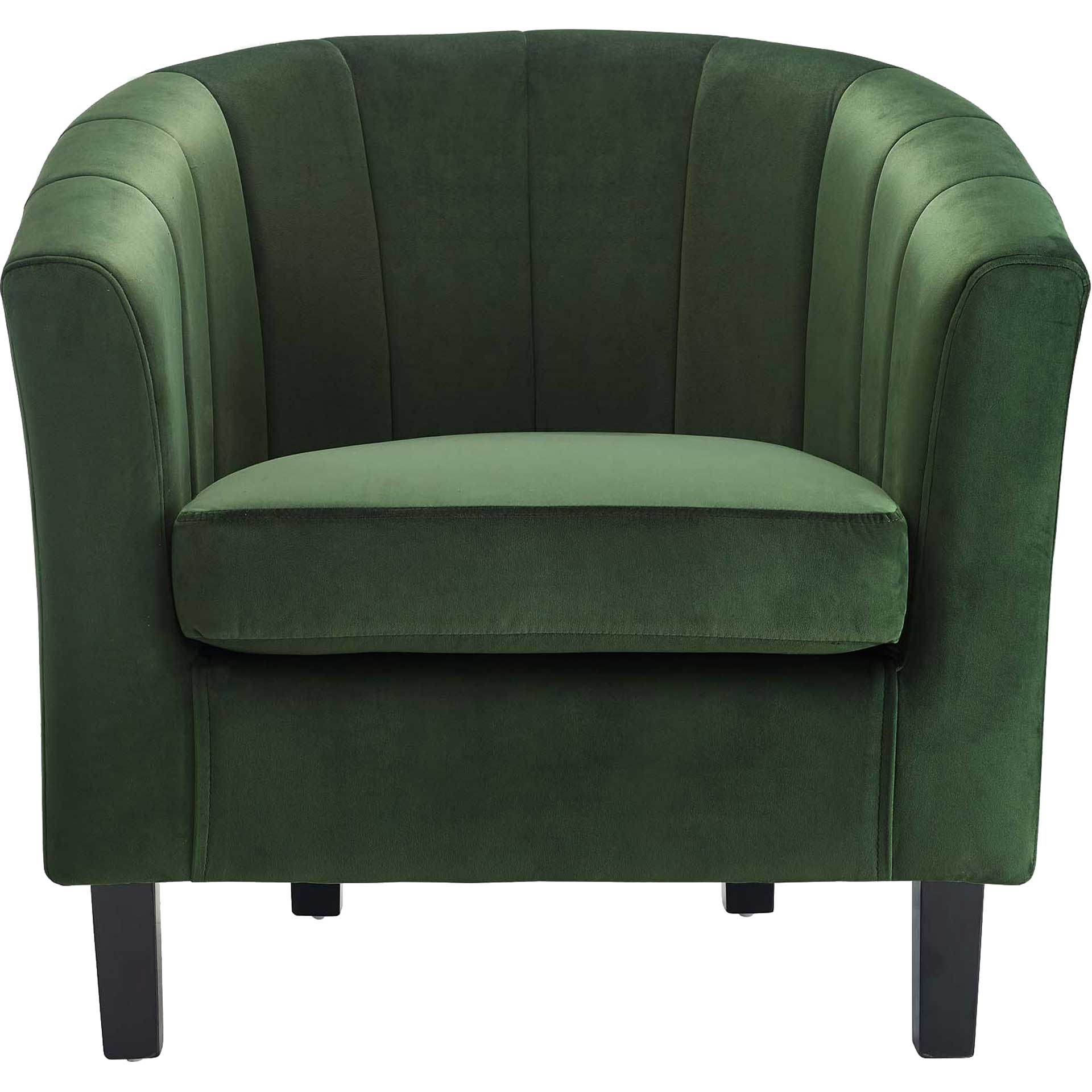 Paloma Channel Tufted Velvet Armchair Emerald