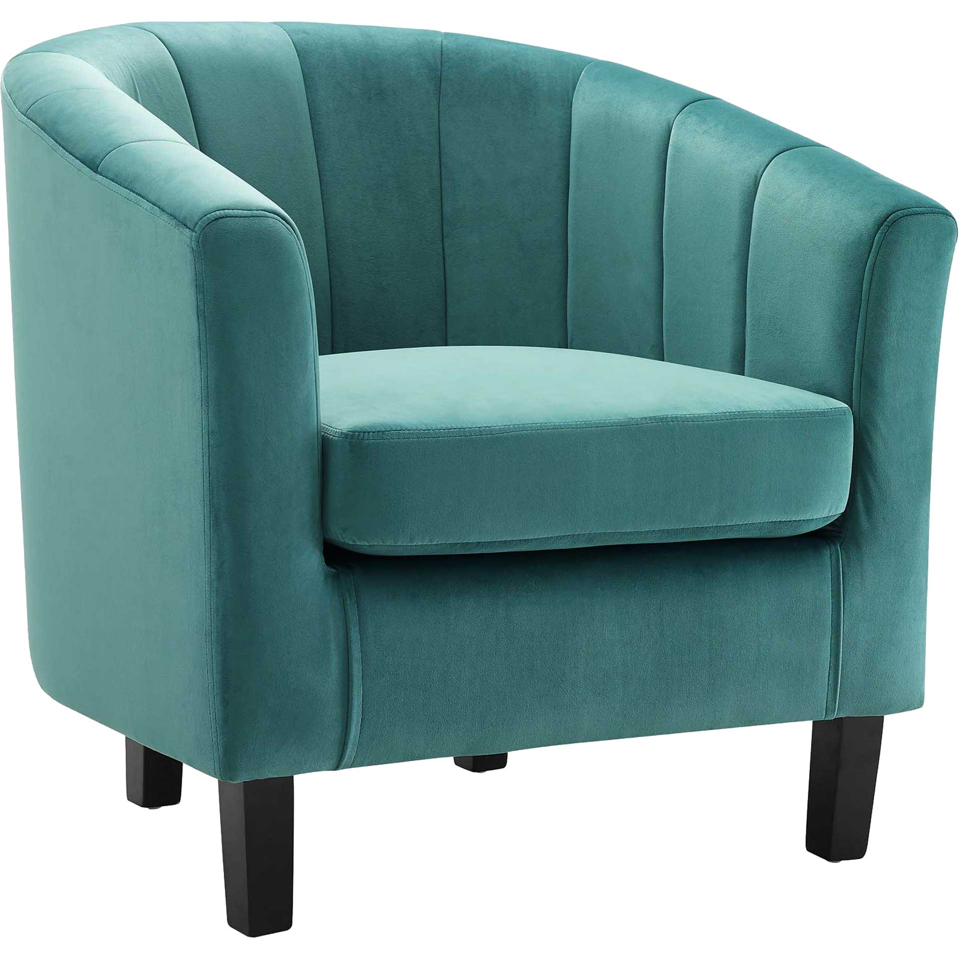 Paloma Channel Tufted Velvet Armchair Teal
