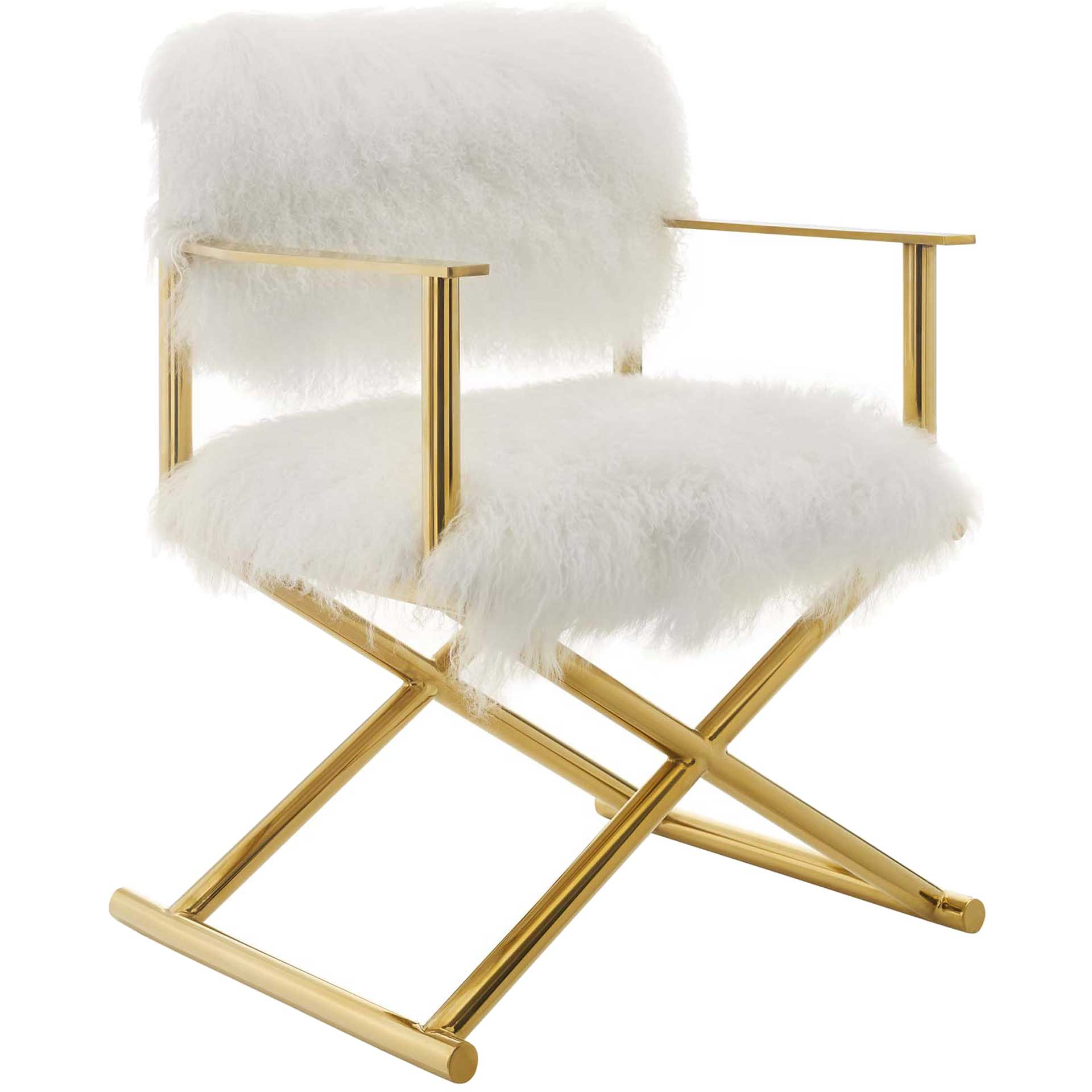 Ace Director's Chair Gold/White