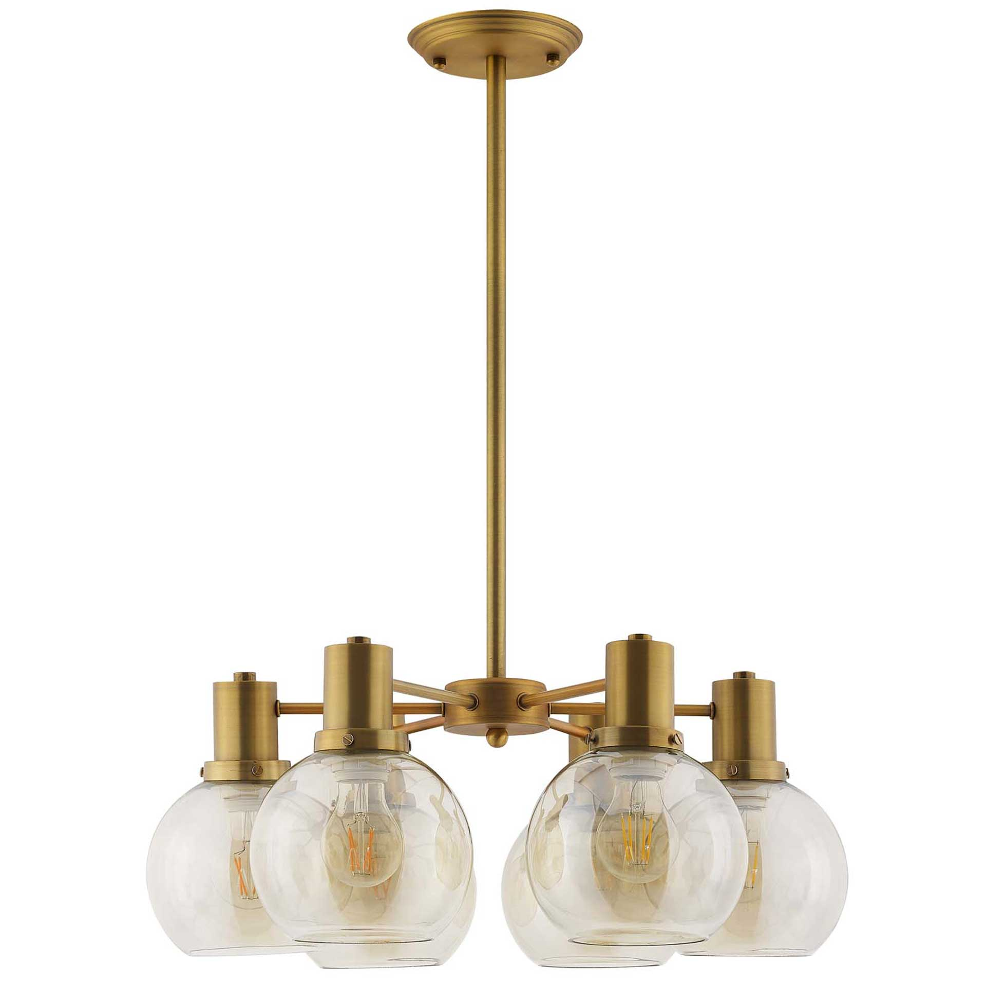 Randy Pendant Chandelier Brass Gold