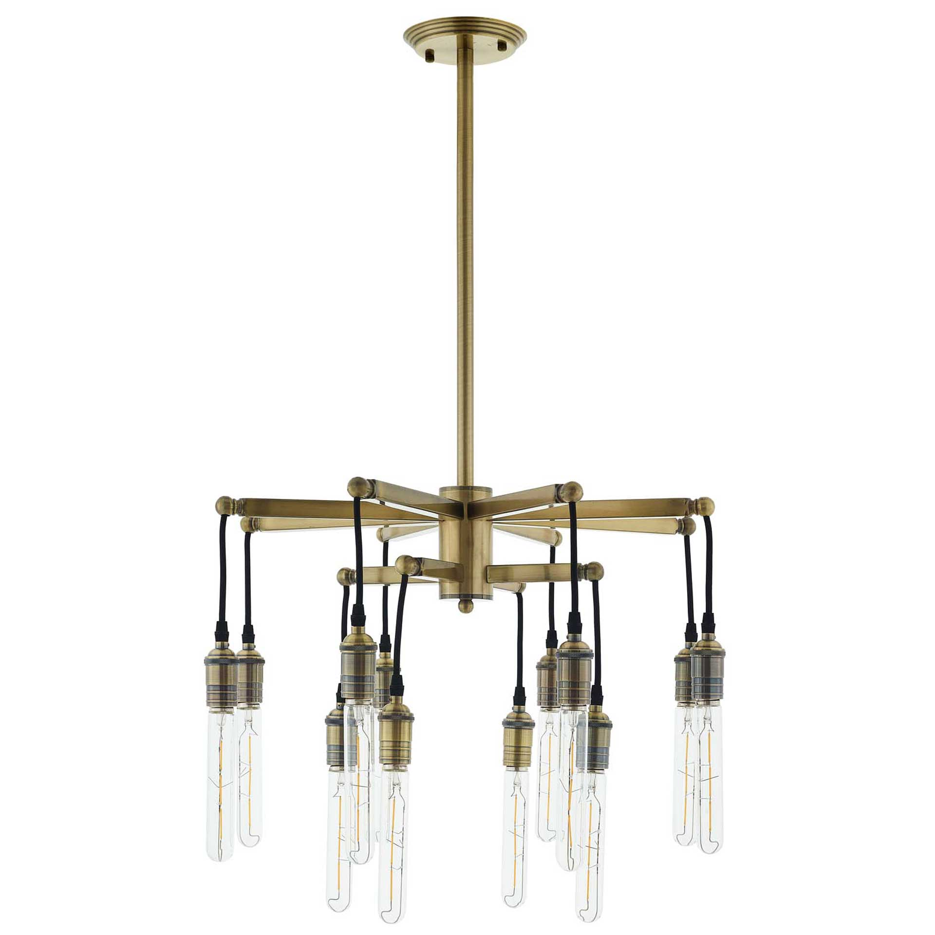 Rubicon Pendant Chandelier Brass Gold/Black