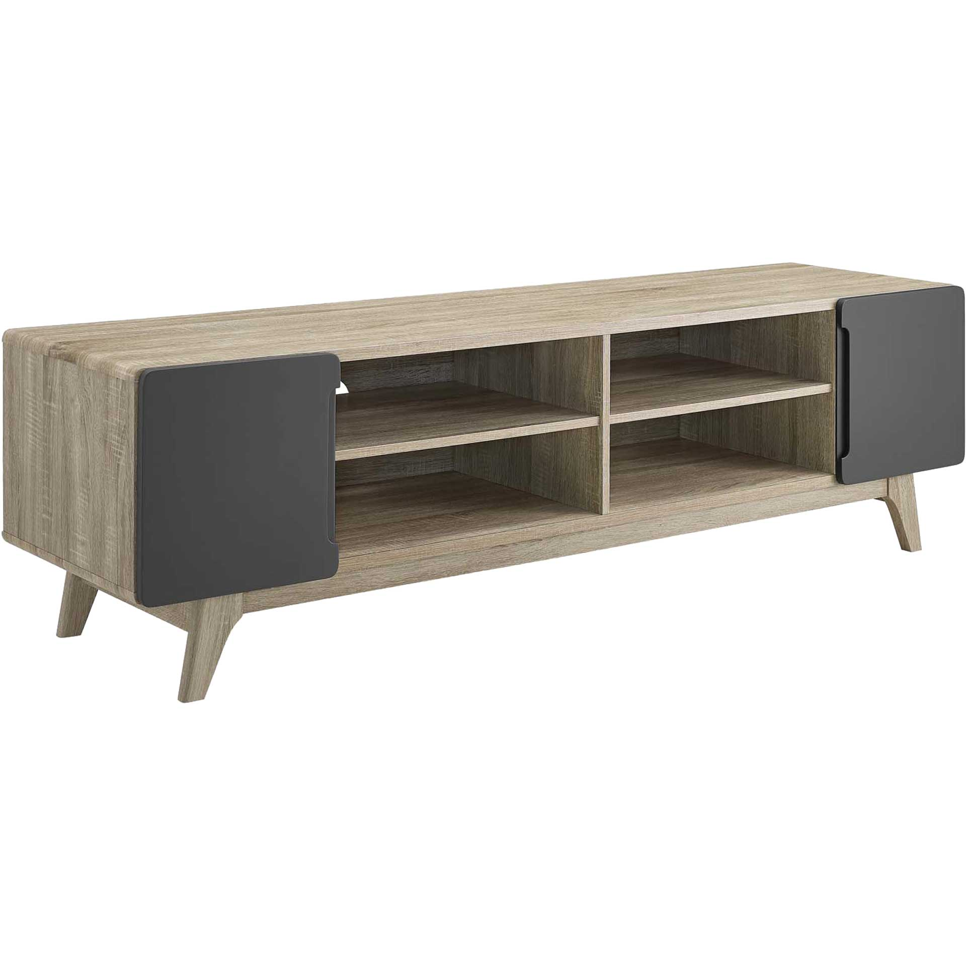 Titus Wood TV Stand Natural Gray
