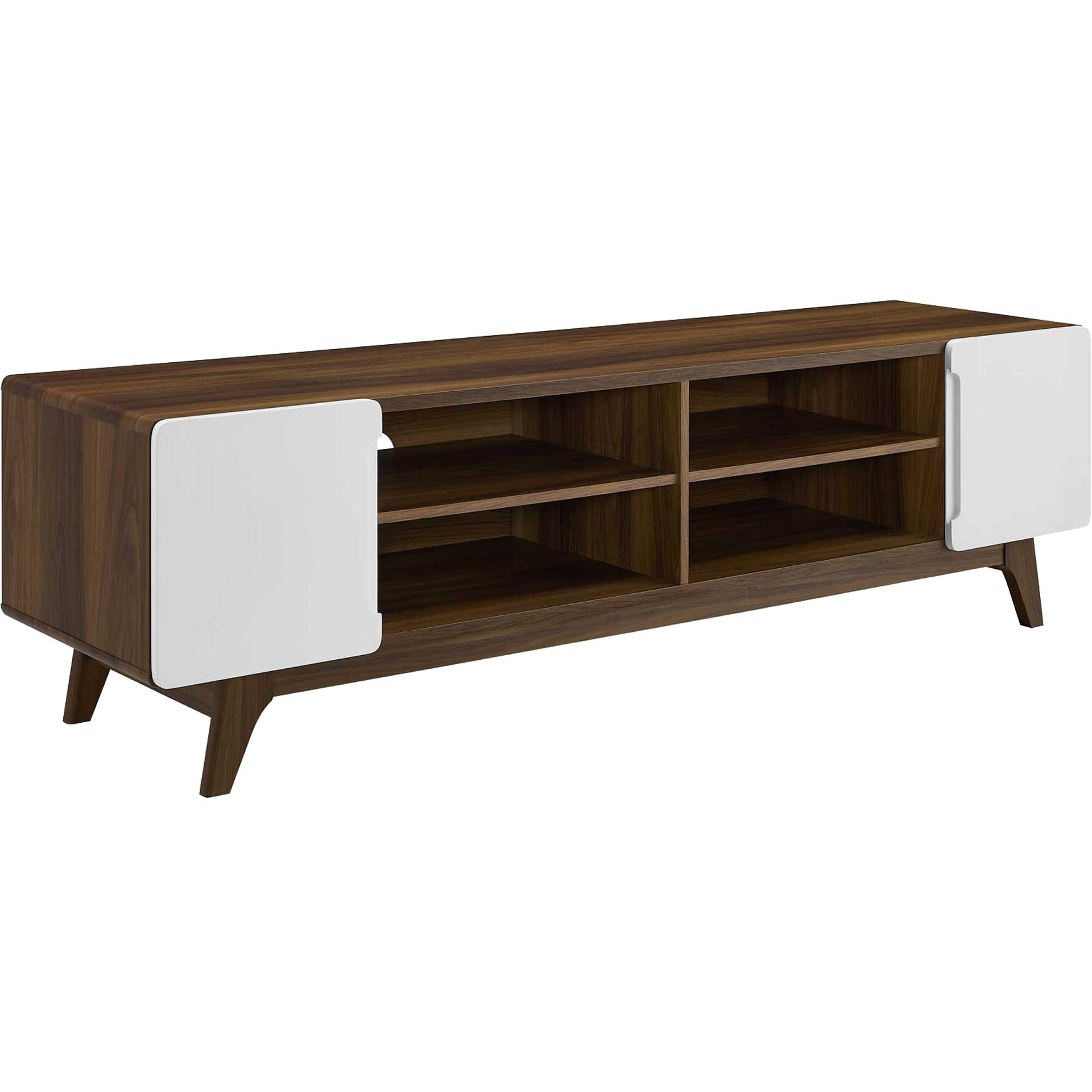 Titus Wood TV Stand Walnut/White
