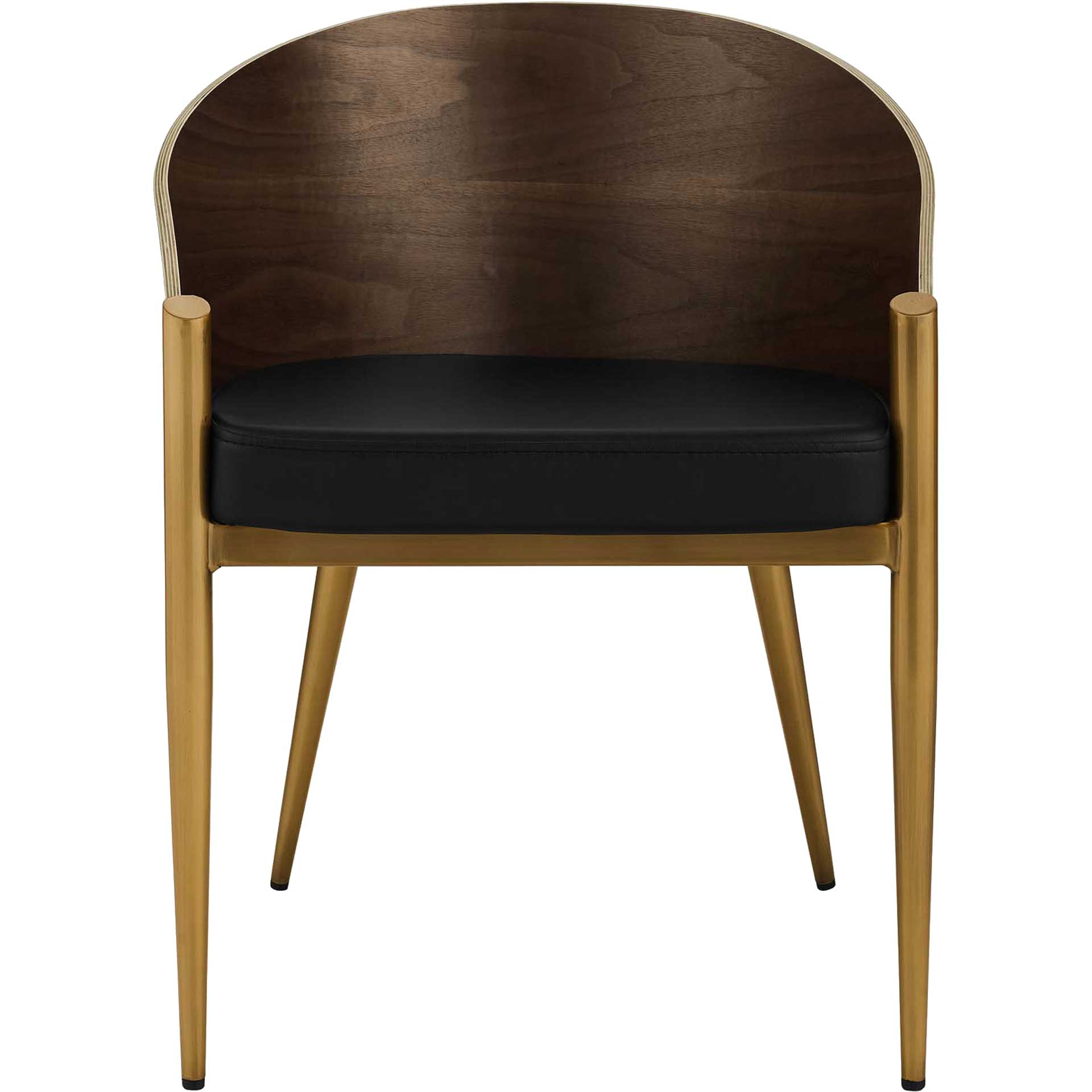 Costa Faux Leather Dining Armchair Gold