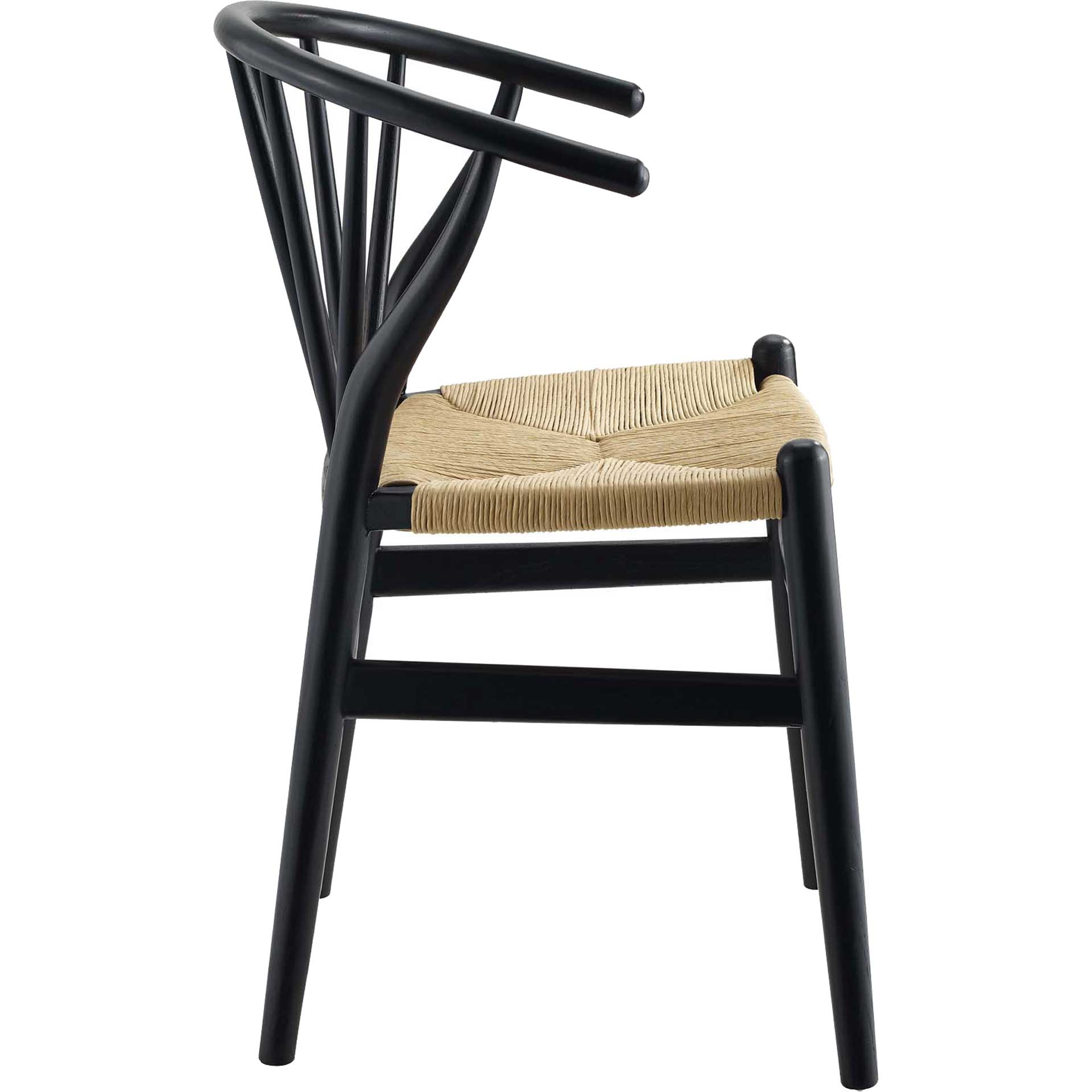Foster Spindle Wood Side Chair Black