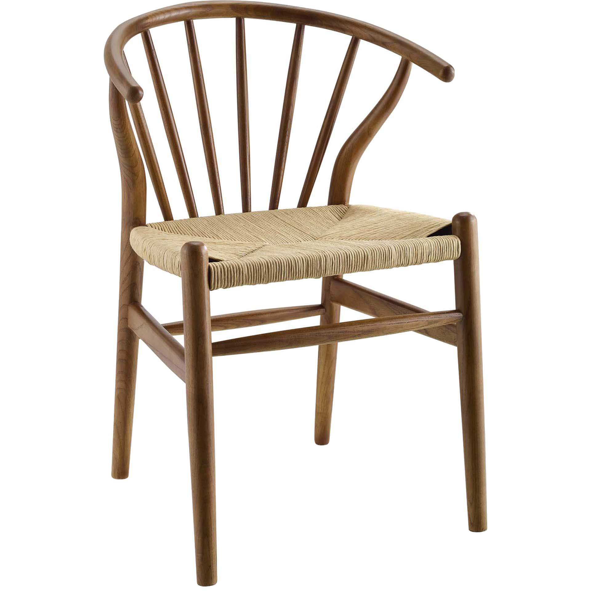 Foster Spindle Wood Side Chair Walnut