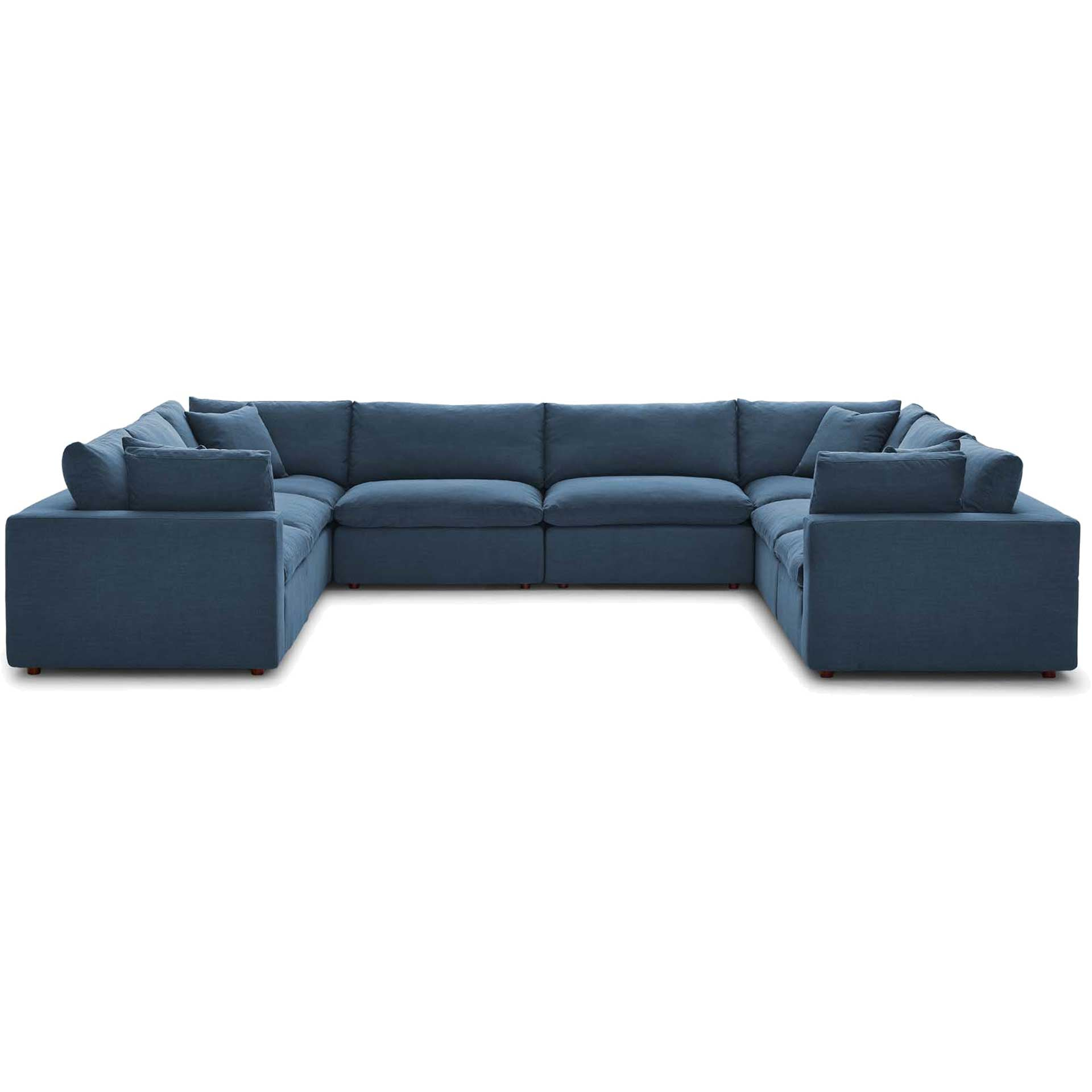 Carmen U-Shaped Sectional Sofa Azure