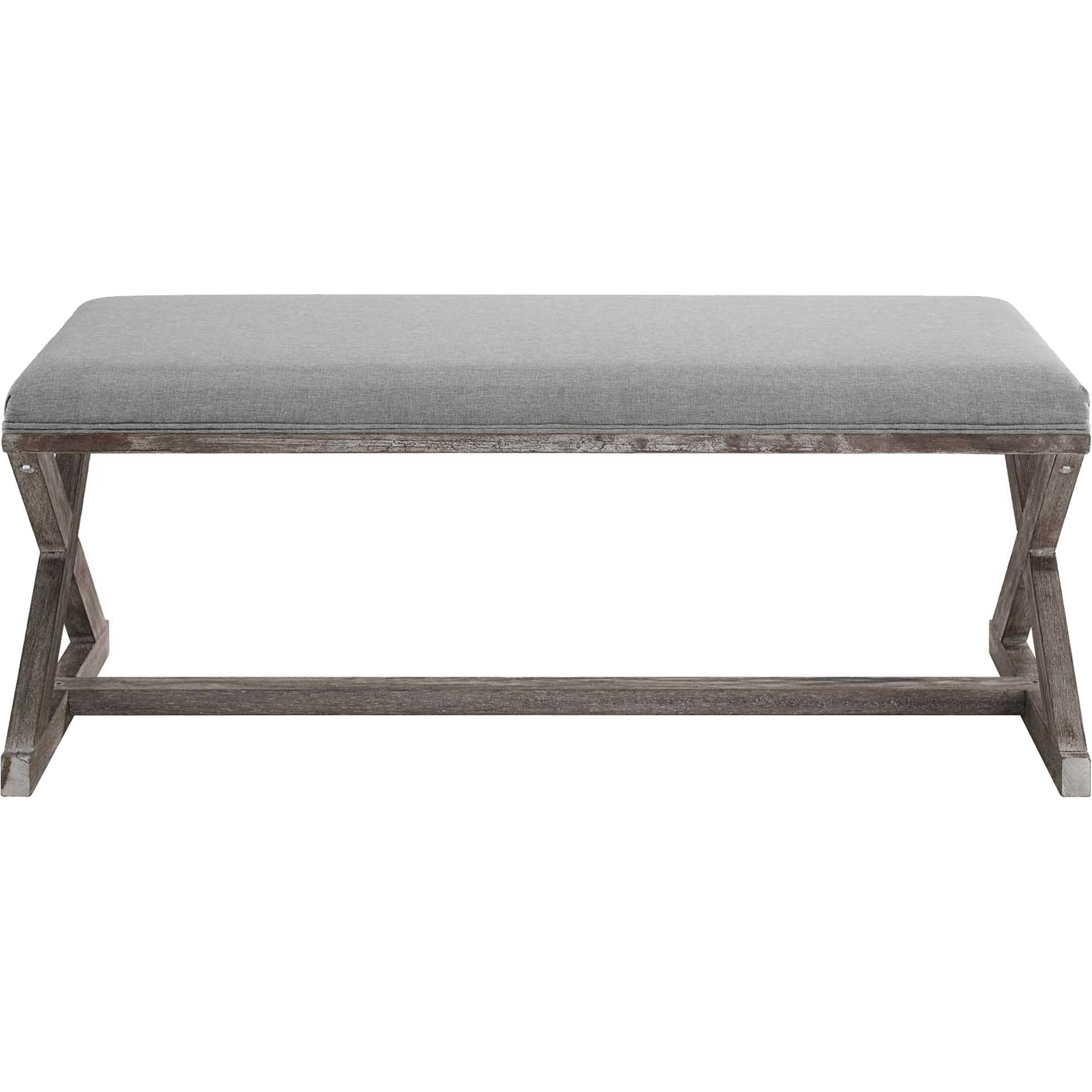 Park X-Brace Fabric Bench Light Gray