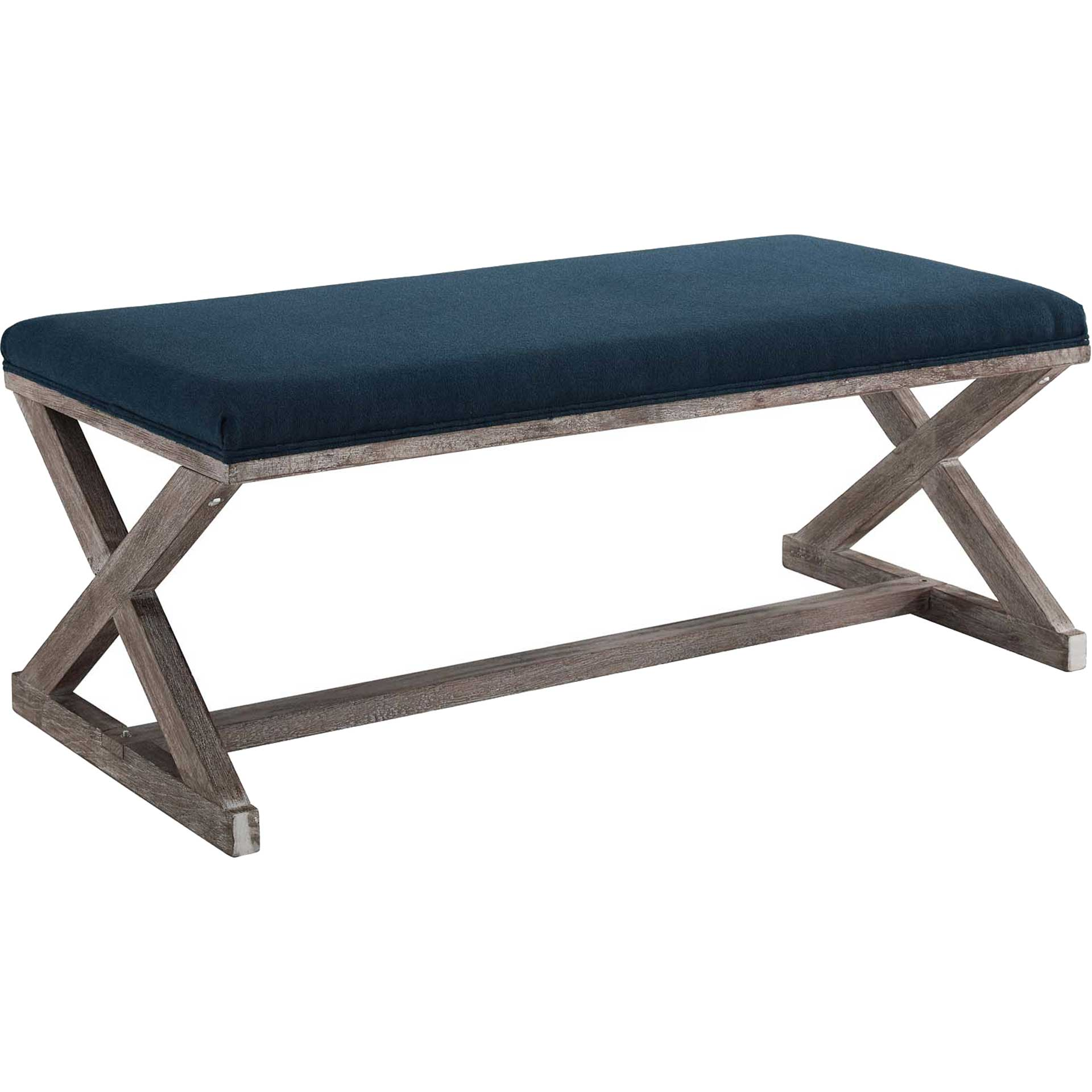 Park X-Brace Fabric Bench Navy