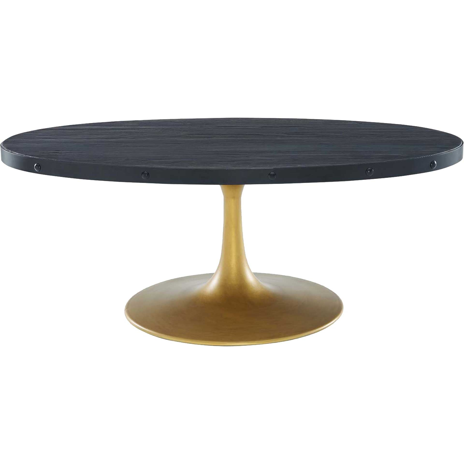 Druid Wood Top Coffee Table Black/Gold