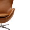 Grand Leather Lounge Chair Terracotta