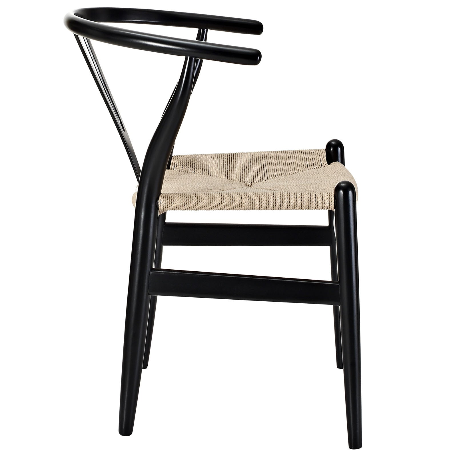 Amelot Wood Armchair Black