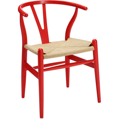 Amelot Wood Armchair Red