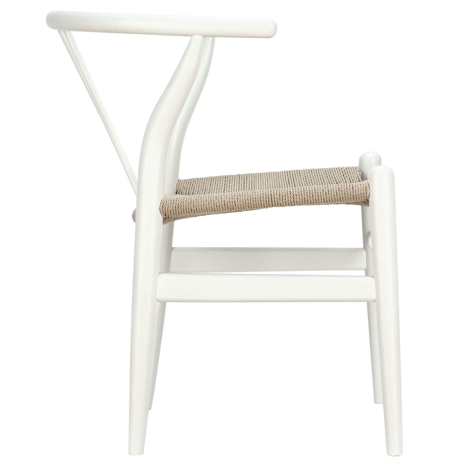 Amelot Wood Armchair White