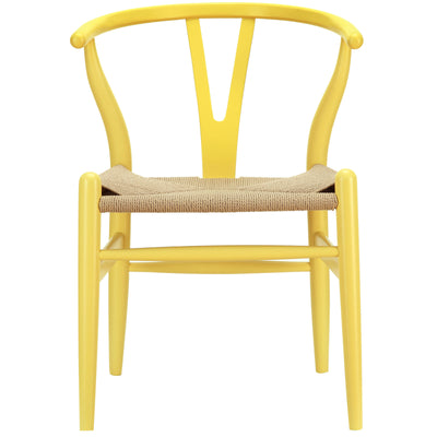 Amelot Wood Armchair Yellow
