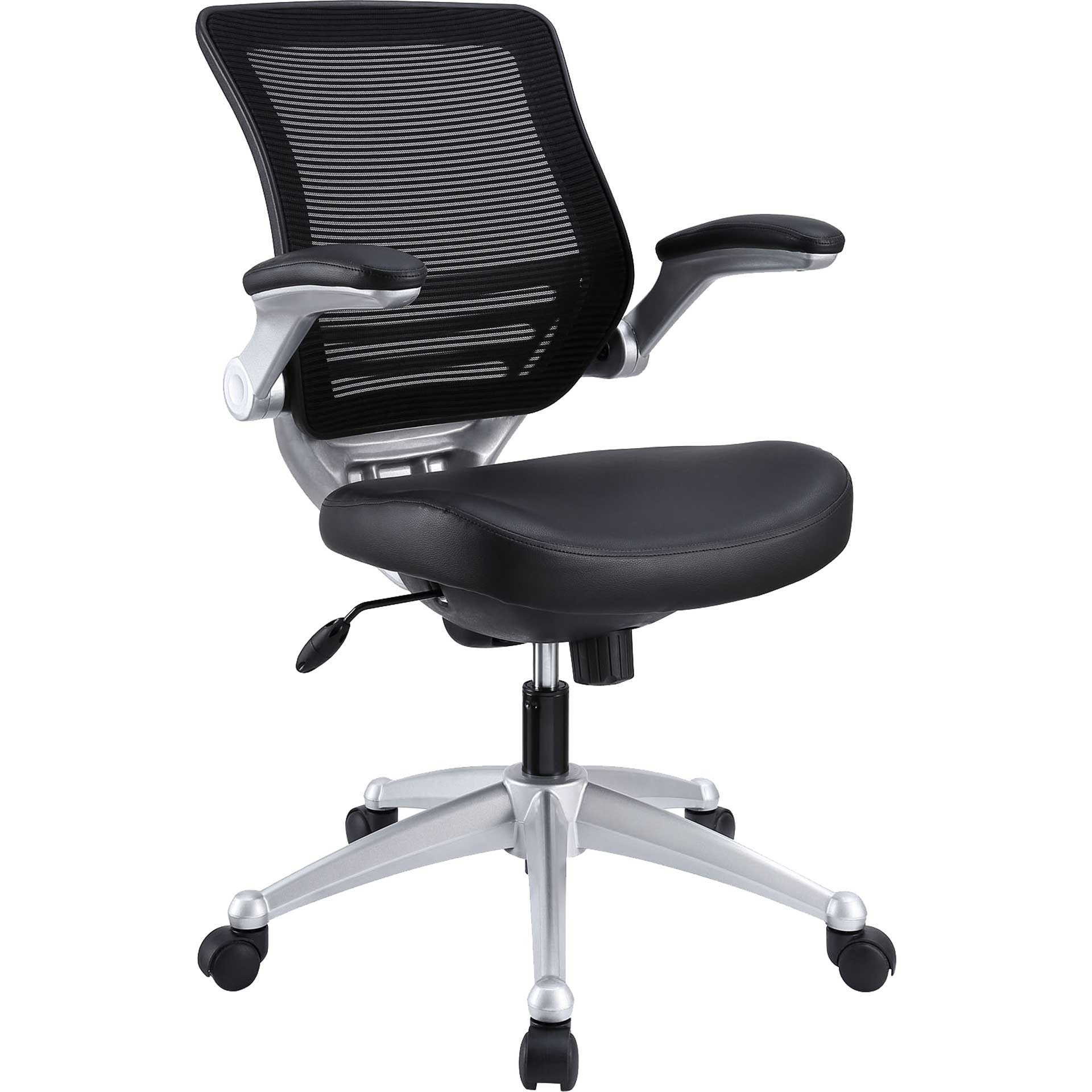 Eloise Leather Office Chair Black