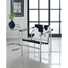 Chant Pony Hide Lounge Chair Black And White