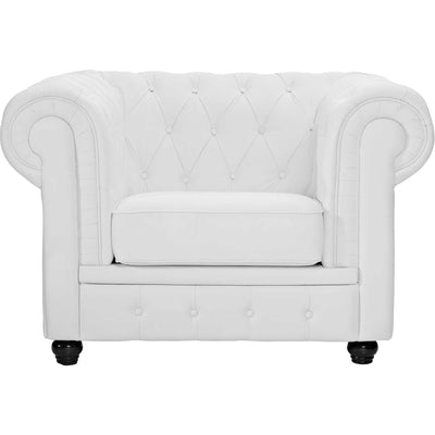 Chest Armchair White