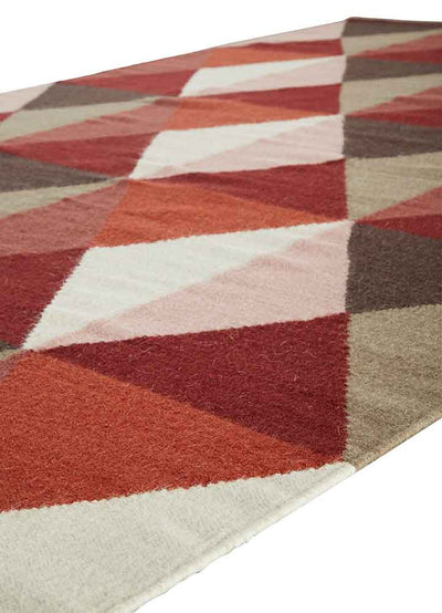 Elmhurst Ritner Red/Gray Area Rug