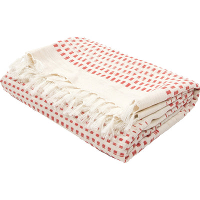 Essential Angora/Auroroa Red Throw