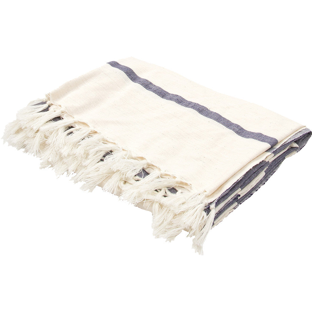 Essential Angora/Insignia Blue Throw