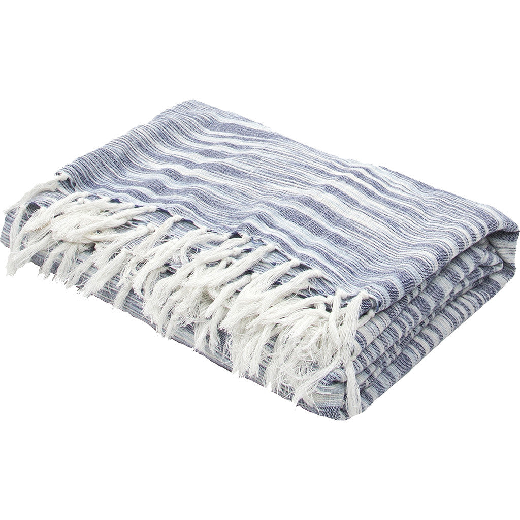 Essential Midnight Navy/Ashley Blue Throw